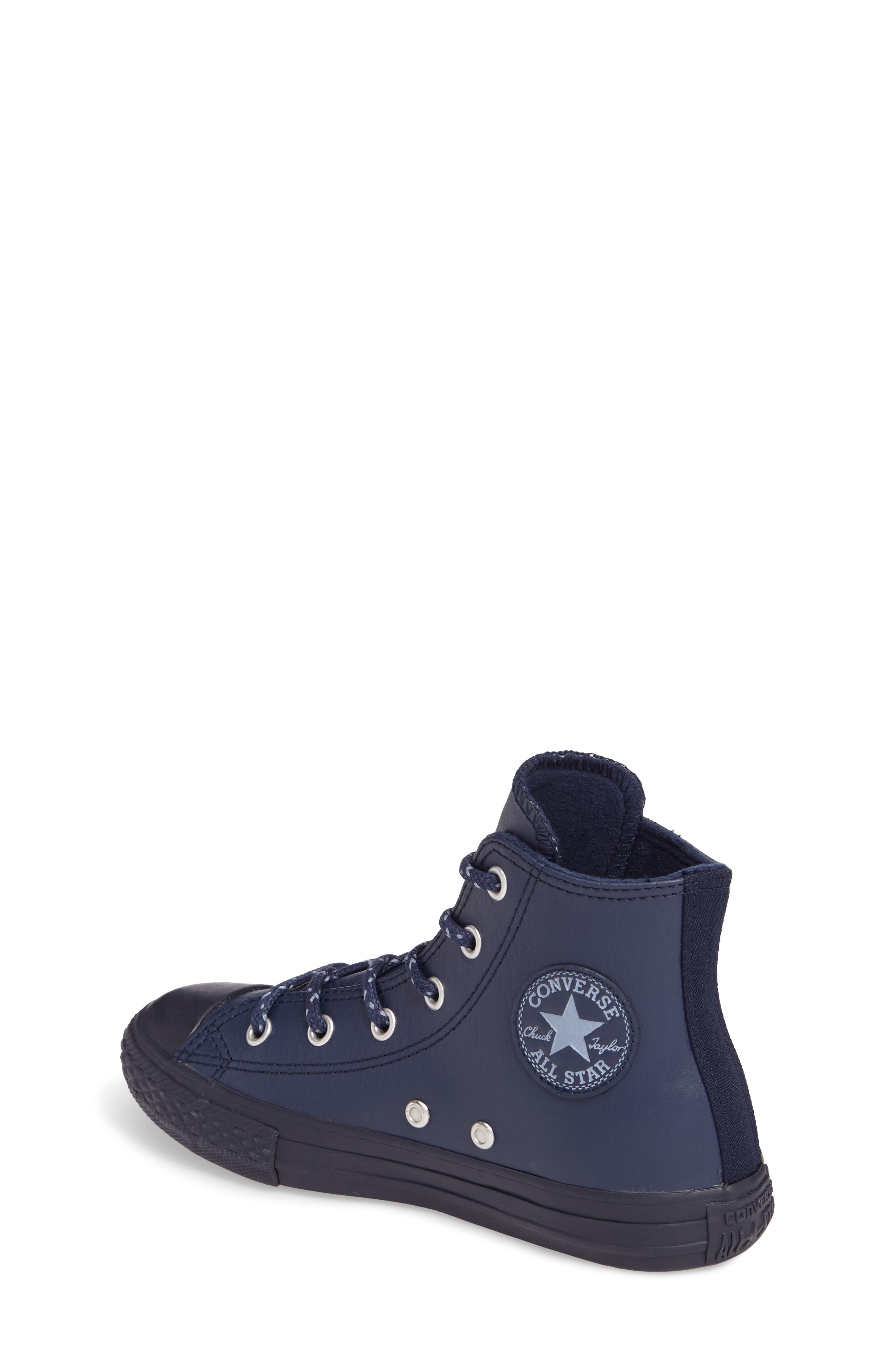 Alternate Image 2  - Converse Chuck Taylor® All Star® Leather High Top Sneaker (Toddler & Little Kid)