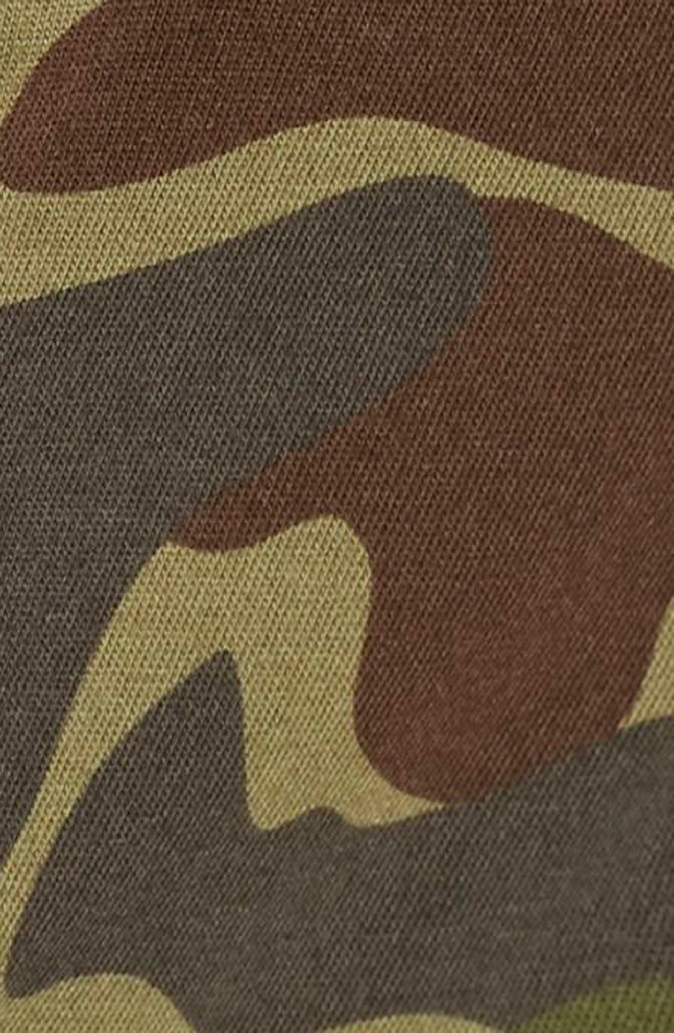 x Pharrell Williams HU Hiking Camo Tee,                             Alternate thumbnail 7, color,                             Camo