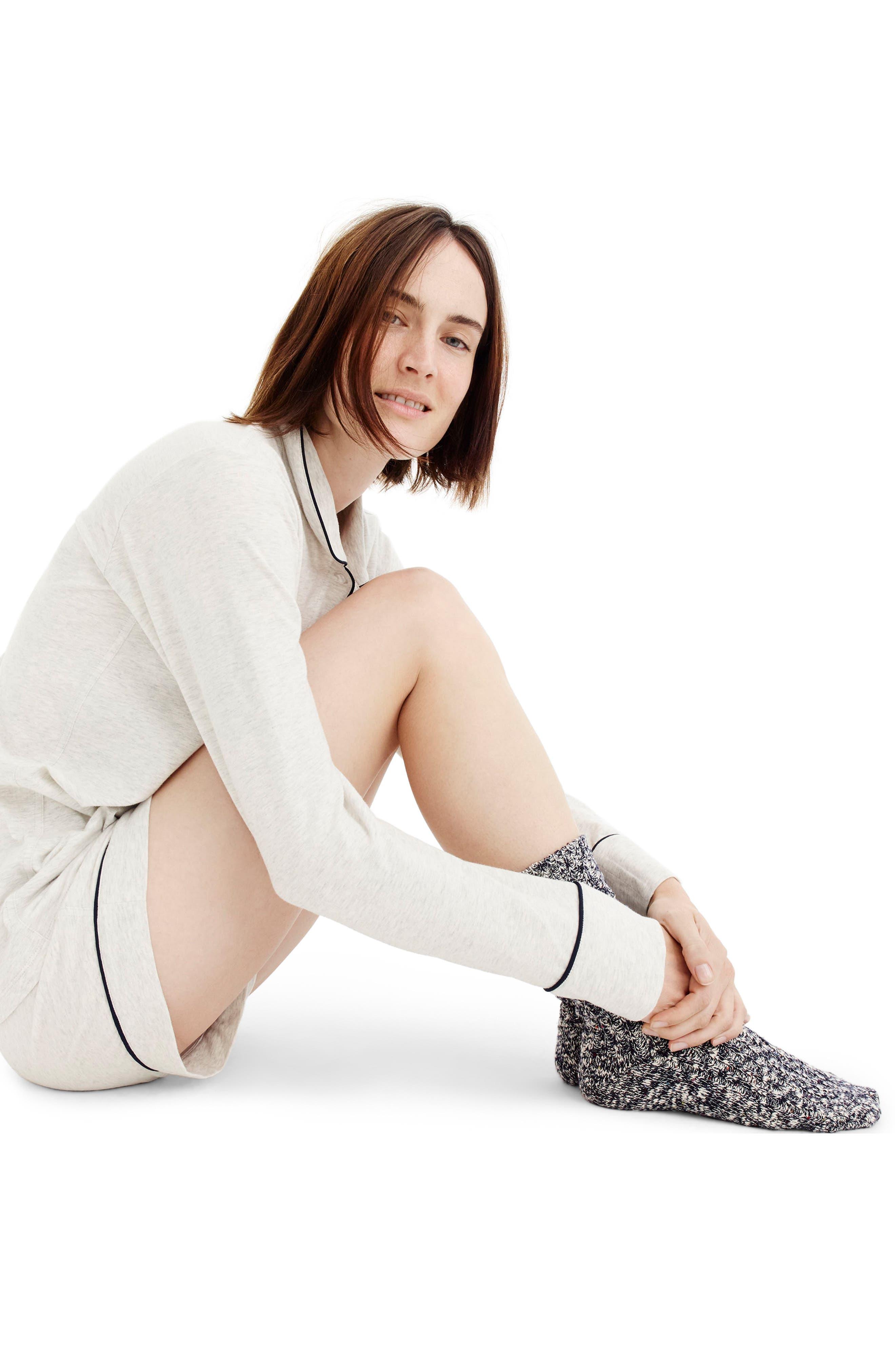 Alternate Image 2  - J.Crew Dreamy Short Cotton Pajamas