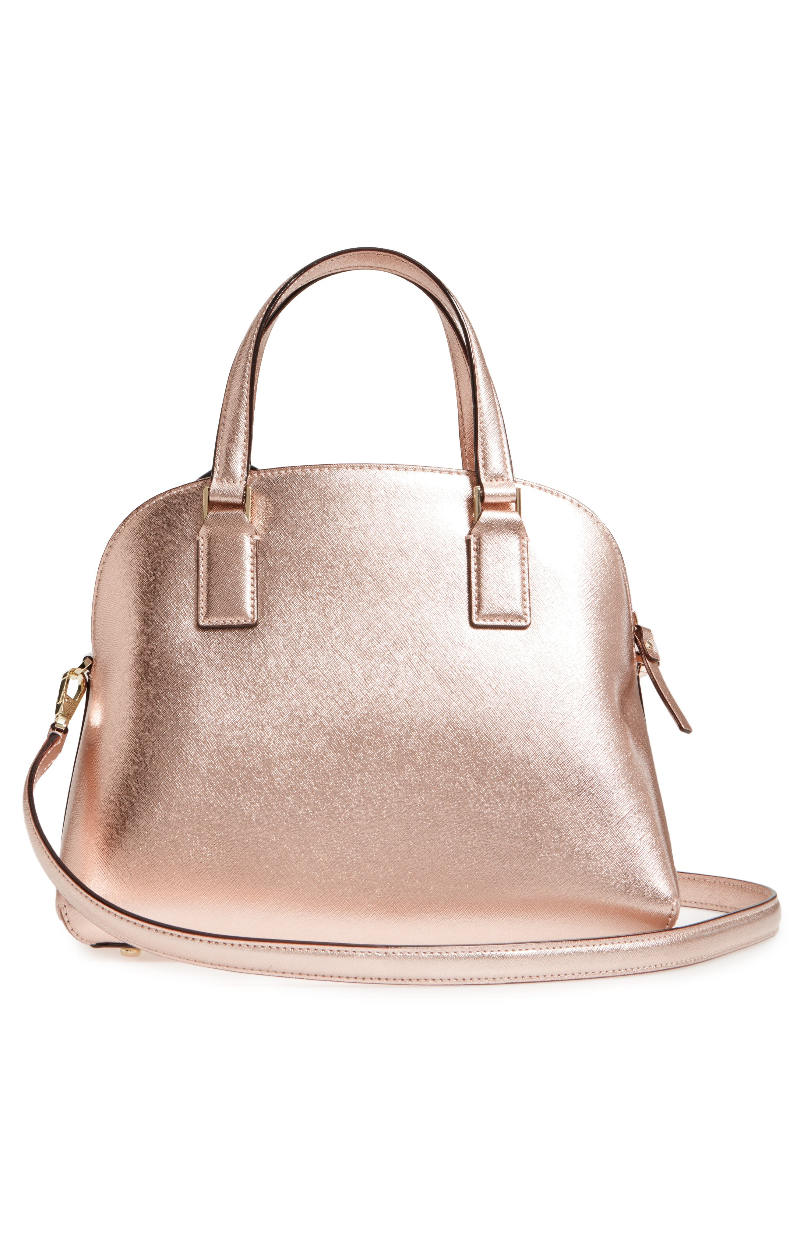 cameron street - lottie leather satchel,                             Alternate thumbnail 3, color,                             Rose Gold