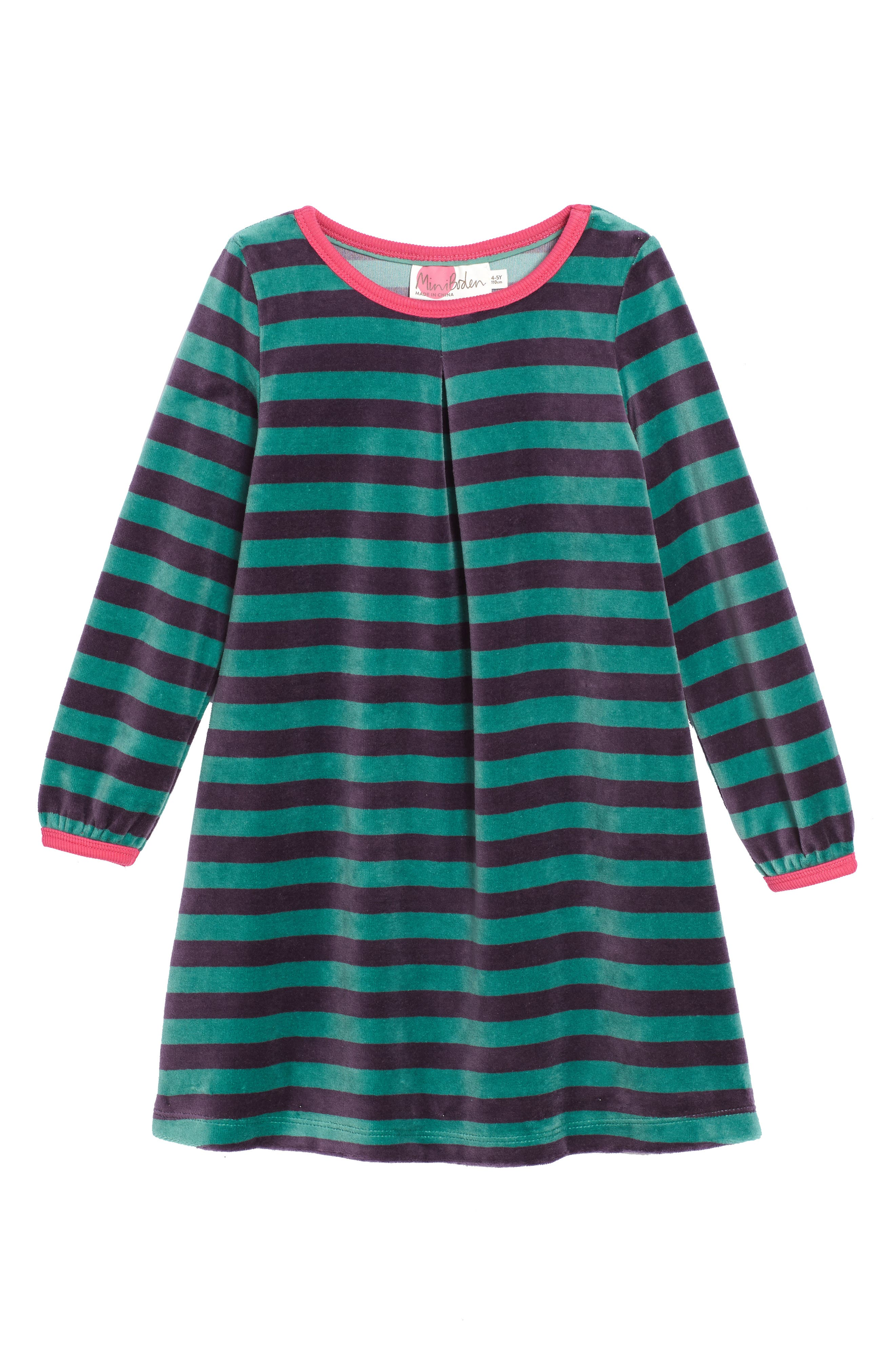 Mini Boden Cosy Velour Dress (Toddler Girls, Little Girls & Big Girls)