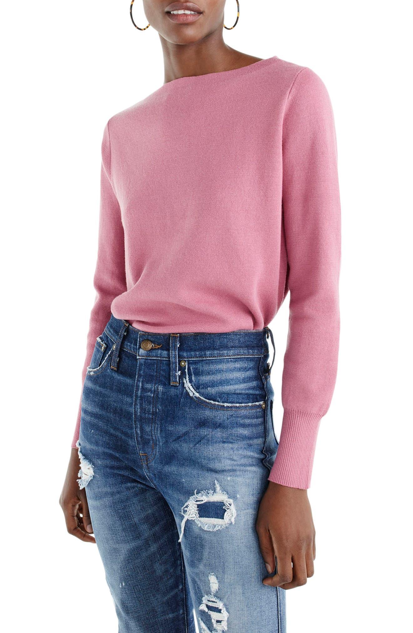 J.Crew Merino Wool Blend Boatneck Sweater