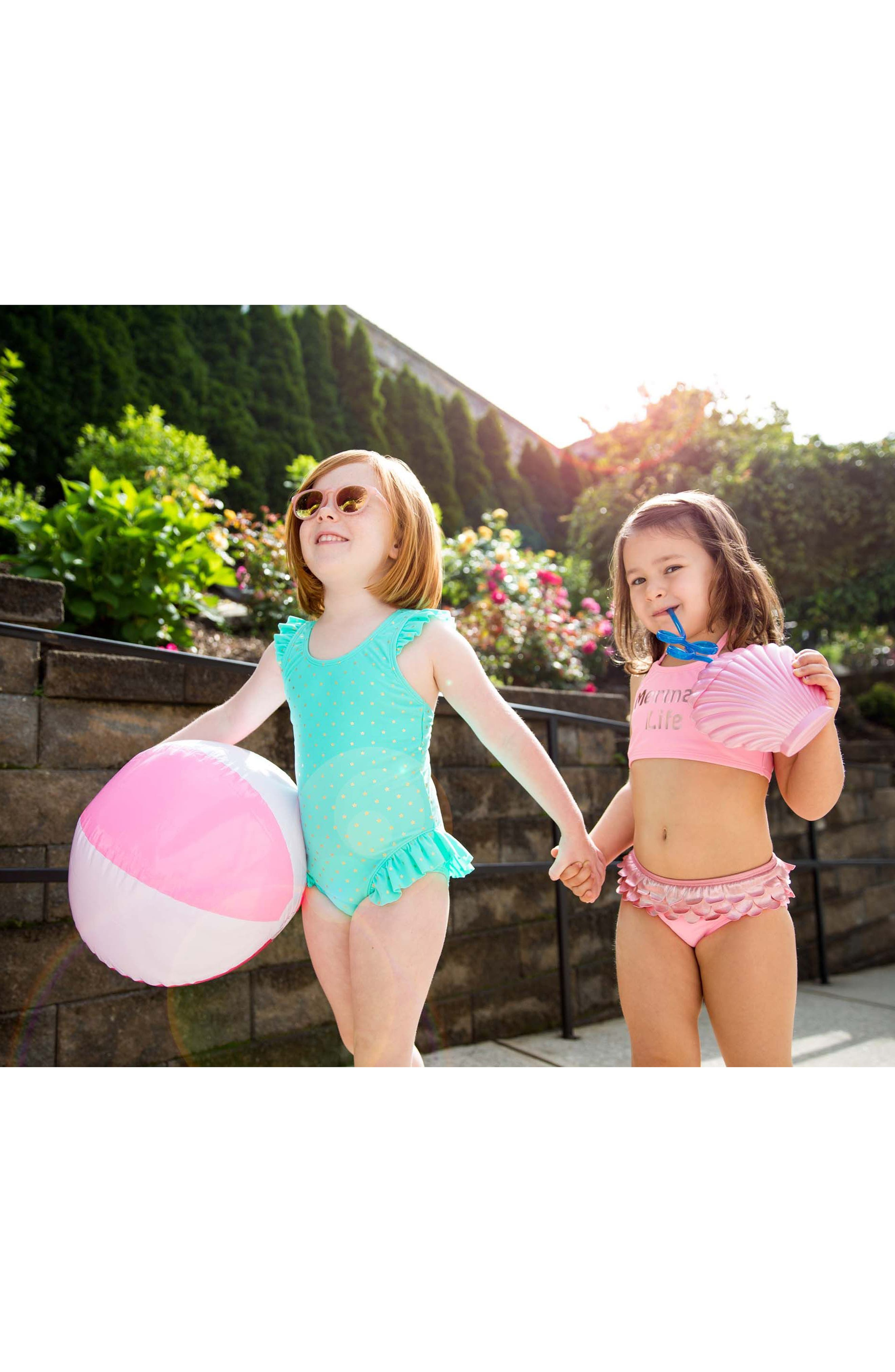 Alternate Image 3  - Hula Star Twinkle Star One-Piece Swimsuit (Toddler Girls & Little Girls)