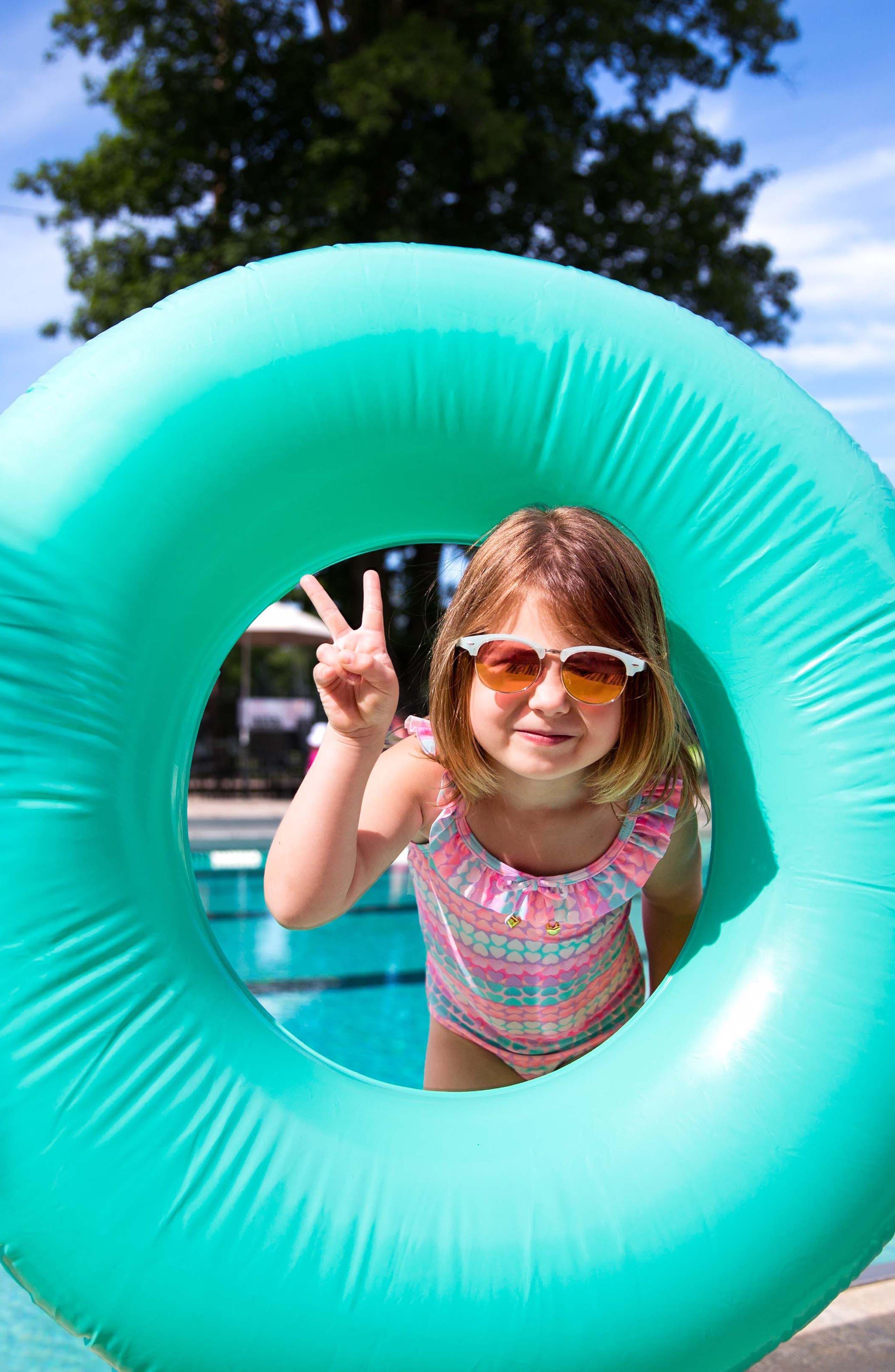 Alternate Image 3  - Hula Star Hearts Galore One-Piece Swimsuit (Toddler Girls & Little Girls)