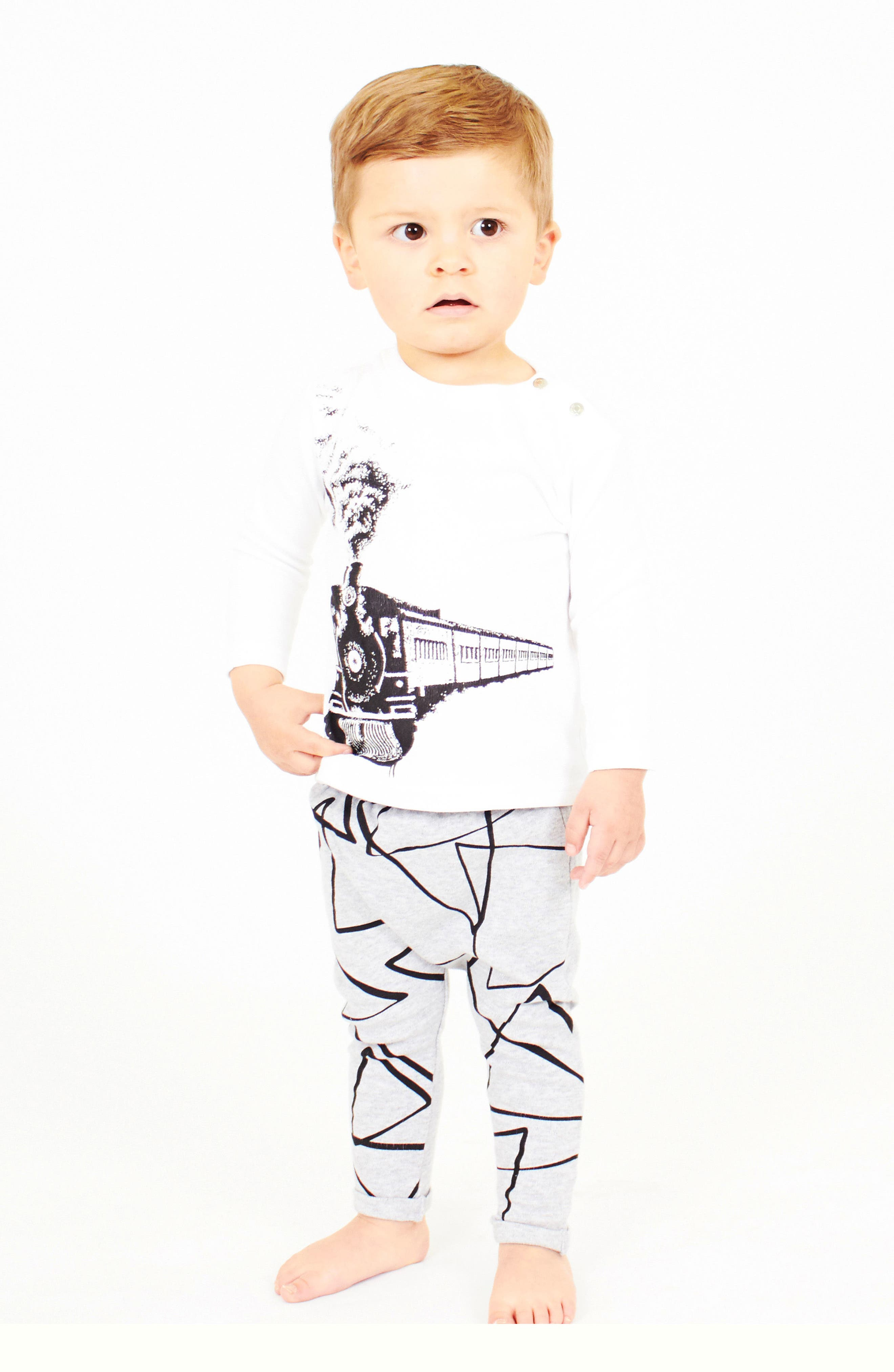 Alternate Image 3  - SOOKIbaby Train T-Shirt & Leggings Set (Baby Boys)