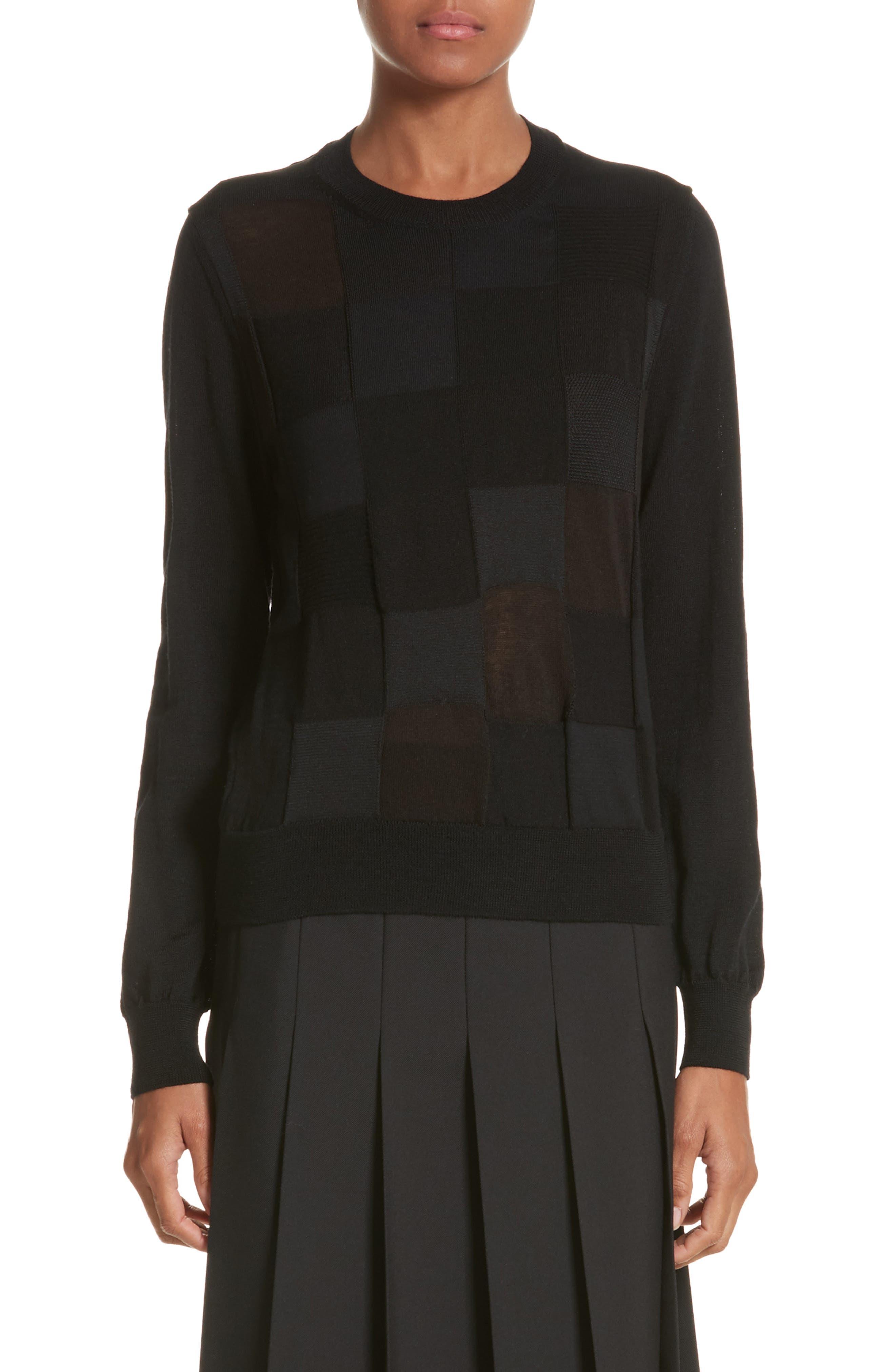 Comme des Garçons Checkered Knit Sweater