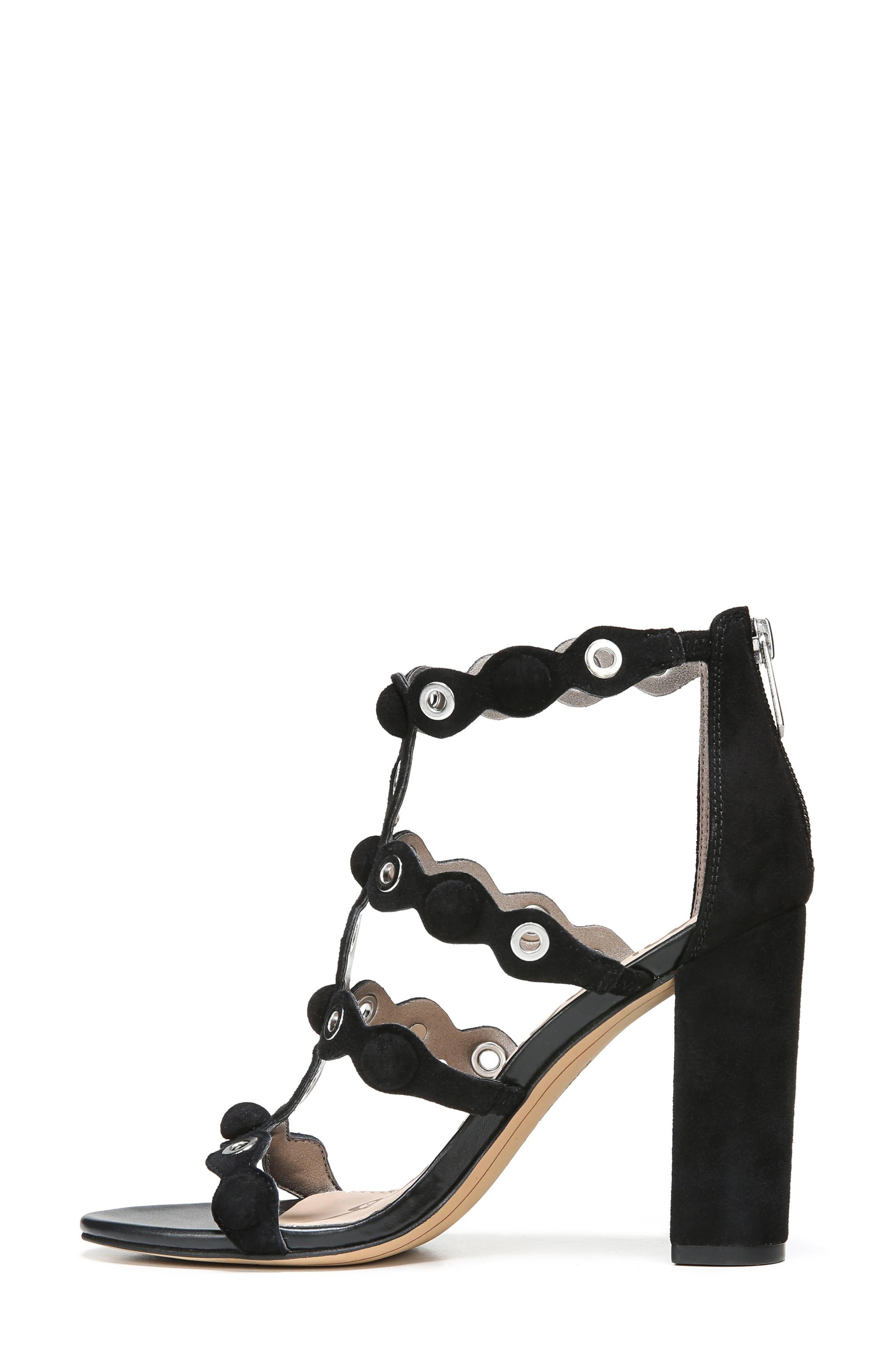 Yuli Grommet Sandal,                             Alternate thumbnail 4, color,                             Black Leather