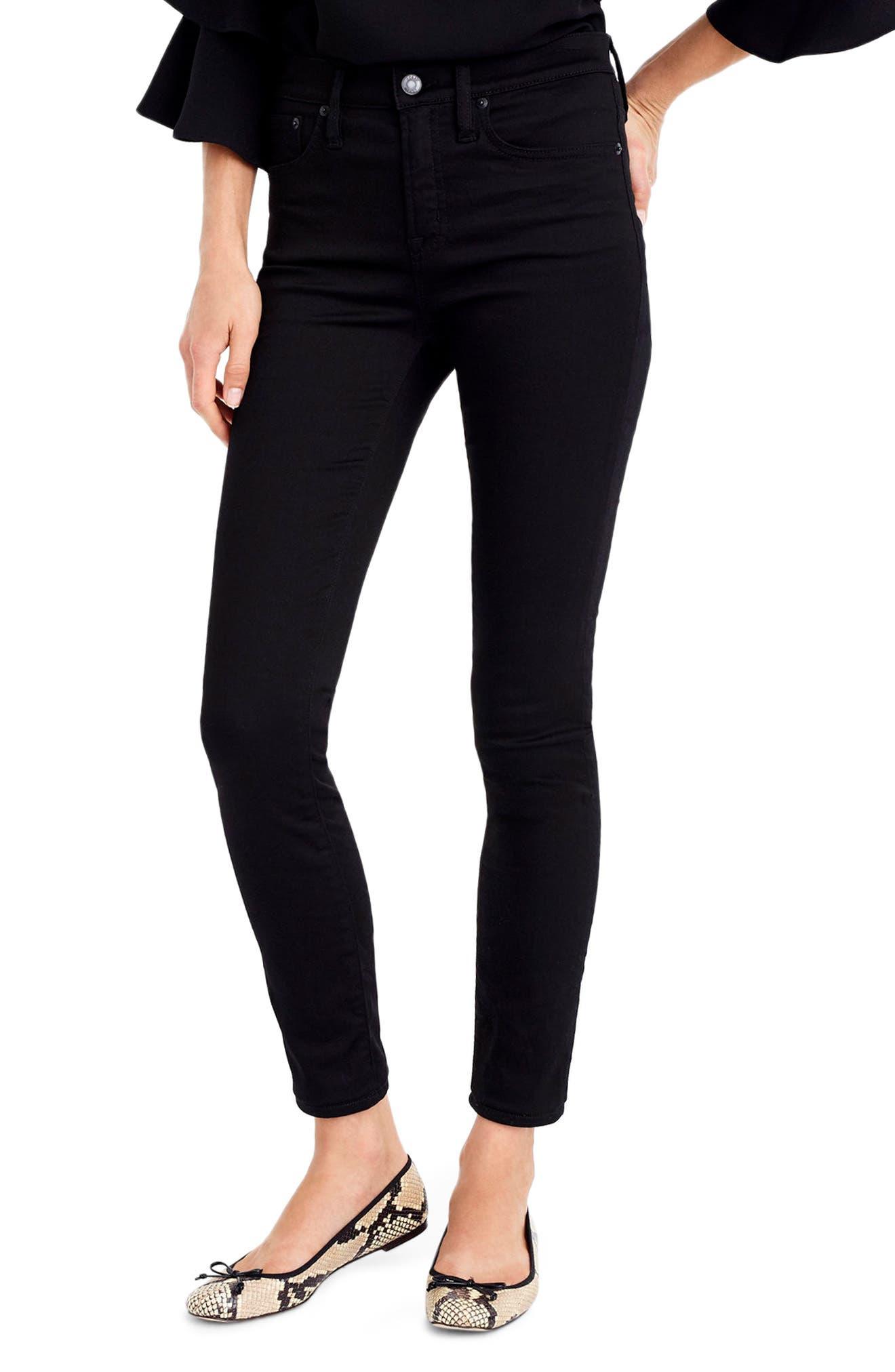 J.Crew Toothpick High Rise Jeans,                         Main,                         color, True Black