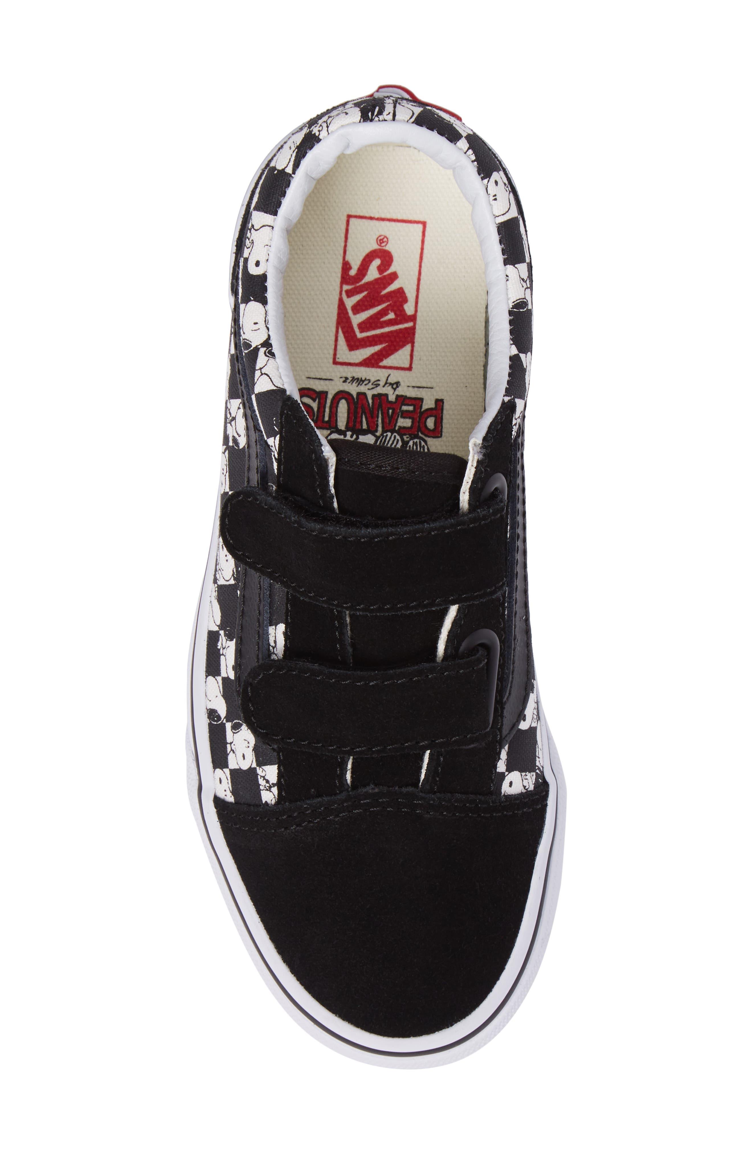 Alternate Image 5  - Vans x Peanuts Old Skool V Low Top Sneaker (Baby, Walker, Toddler, Little Kid & Big Kid)
