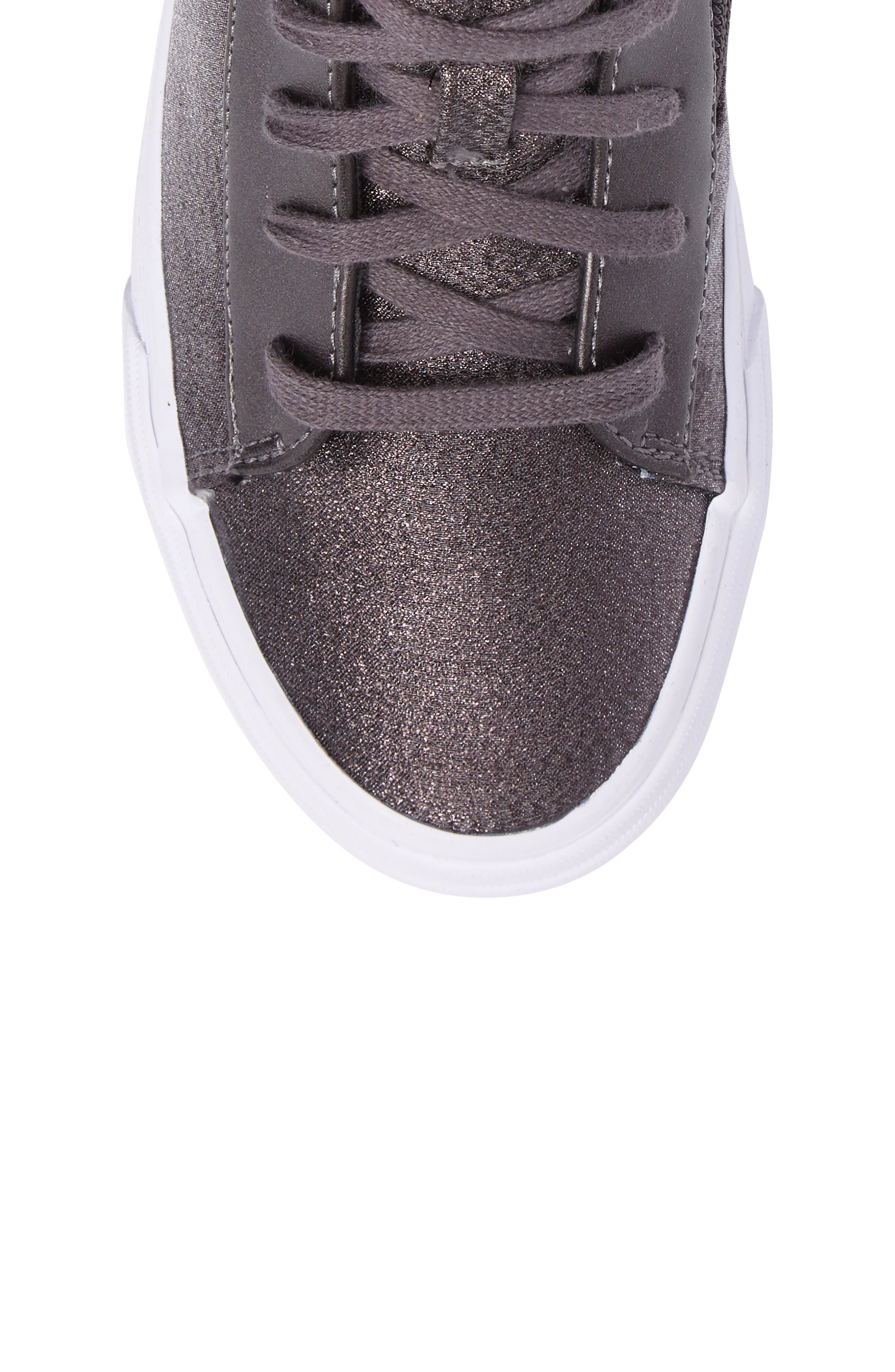 Double Up High Top Sneaker,                             Alternate thumbnail 5, color,                             Pewter