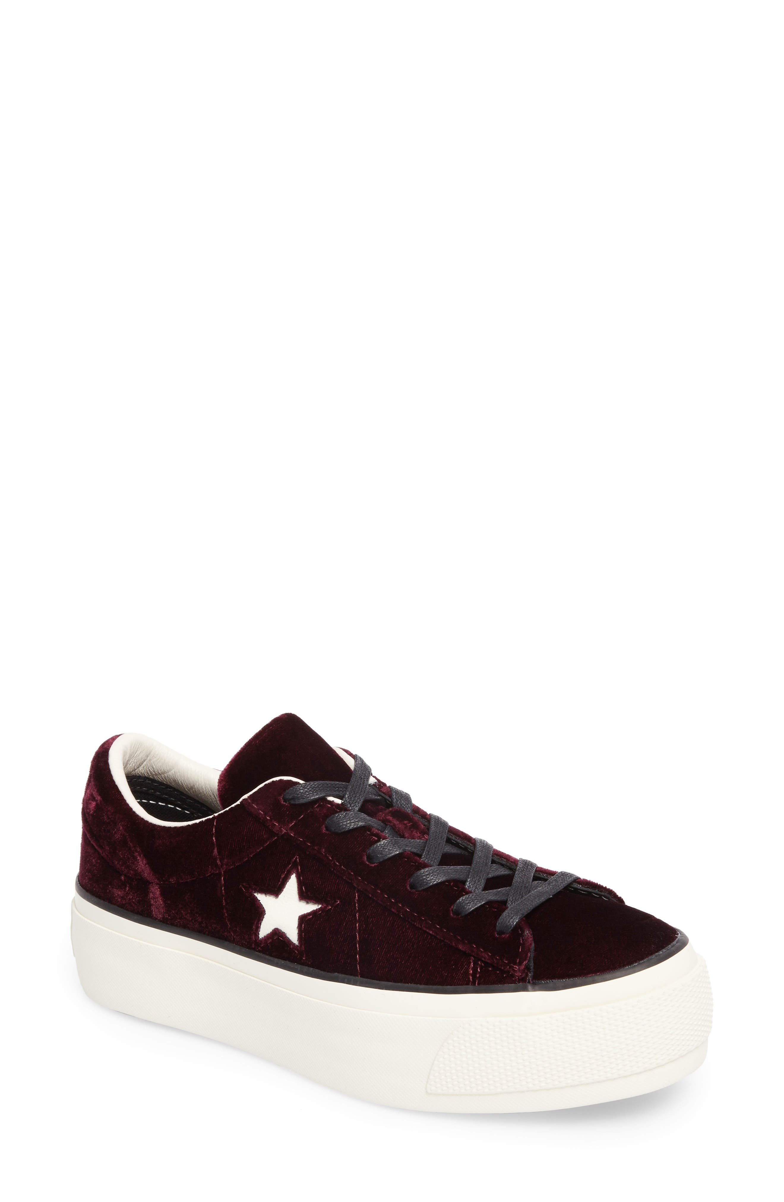 Alternate Image 1 Selected - Converse Chuck Taylor® One Star Platform Sneaker (Women)