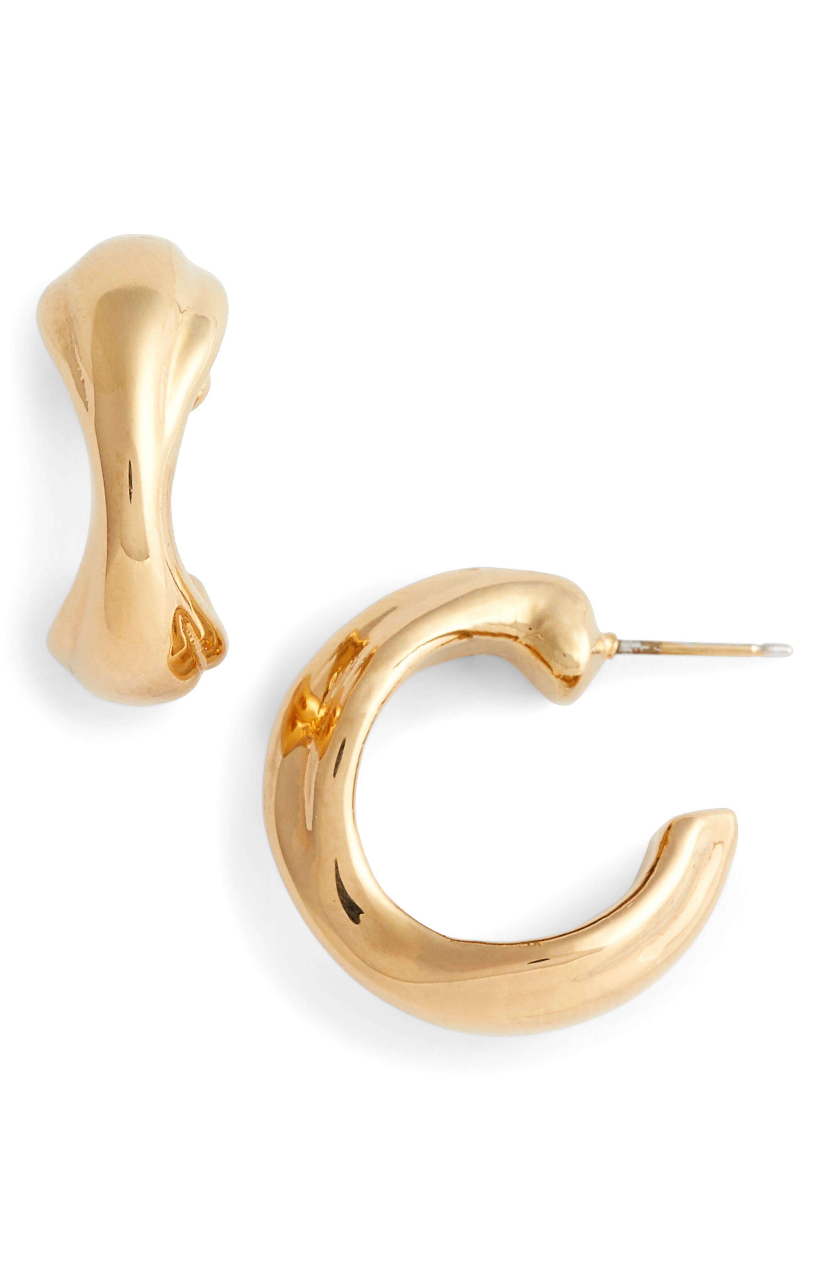 Simon Sebbag Mini Curved Vermeil Hoop Earrings