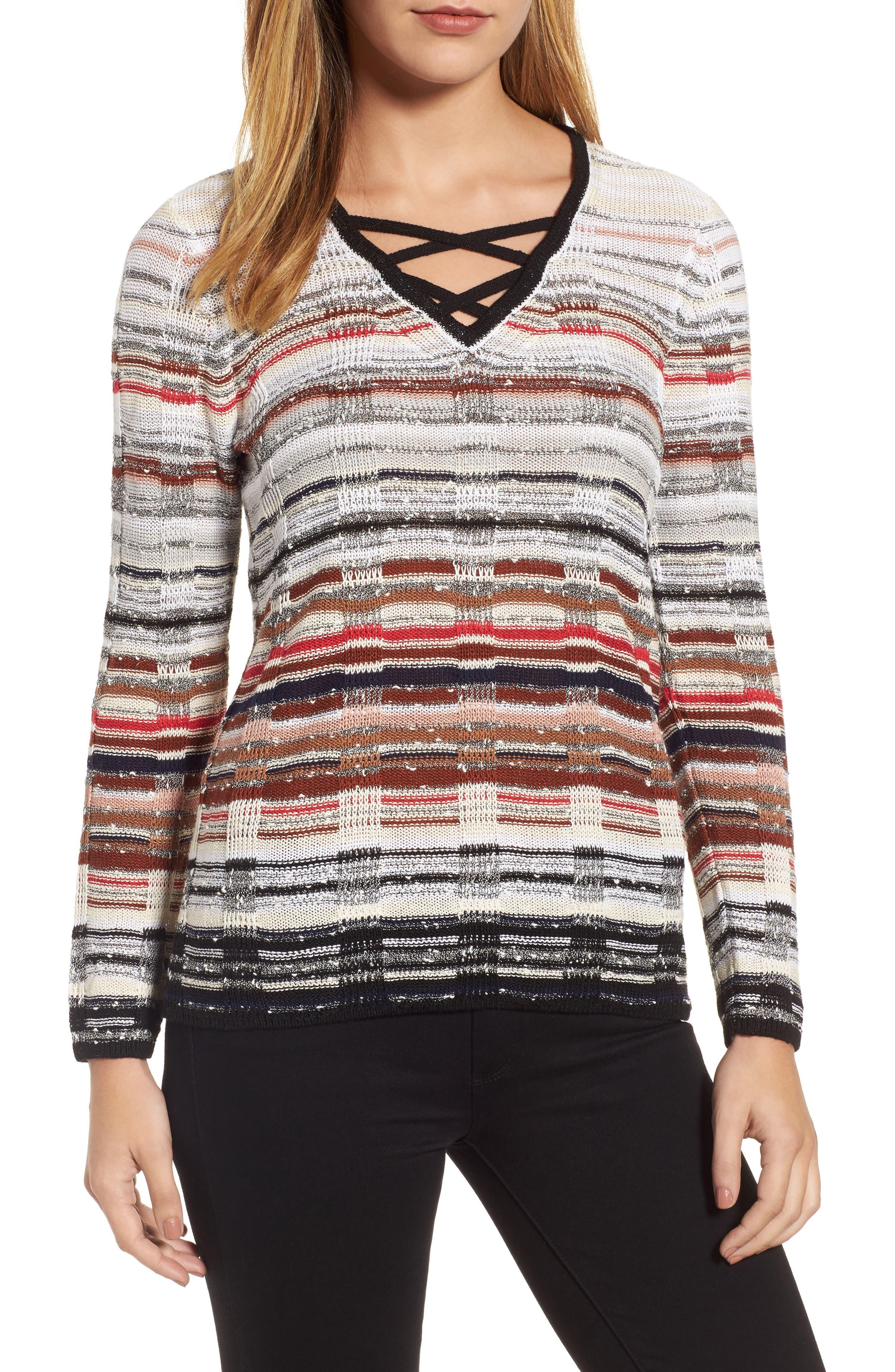Alternate Image 1 Selected - NIC+ZOE Red Hills Sweater (Regular & Petite)
