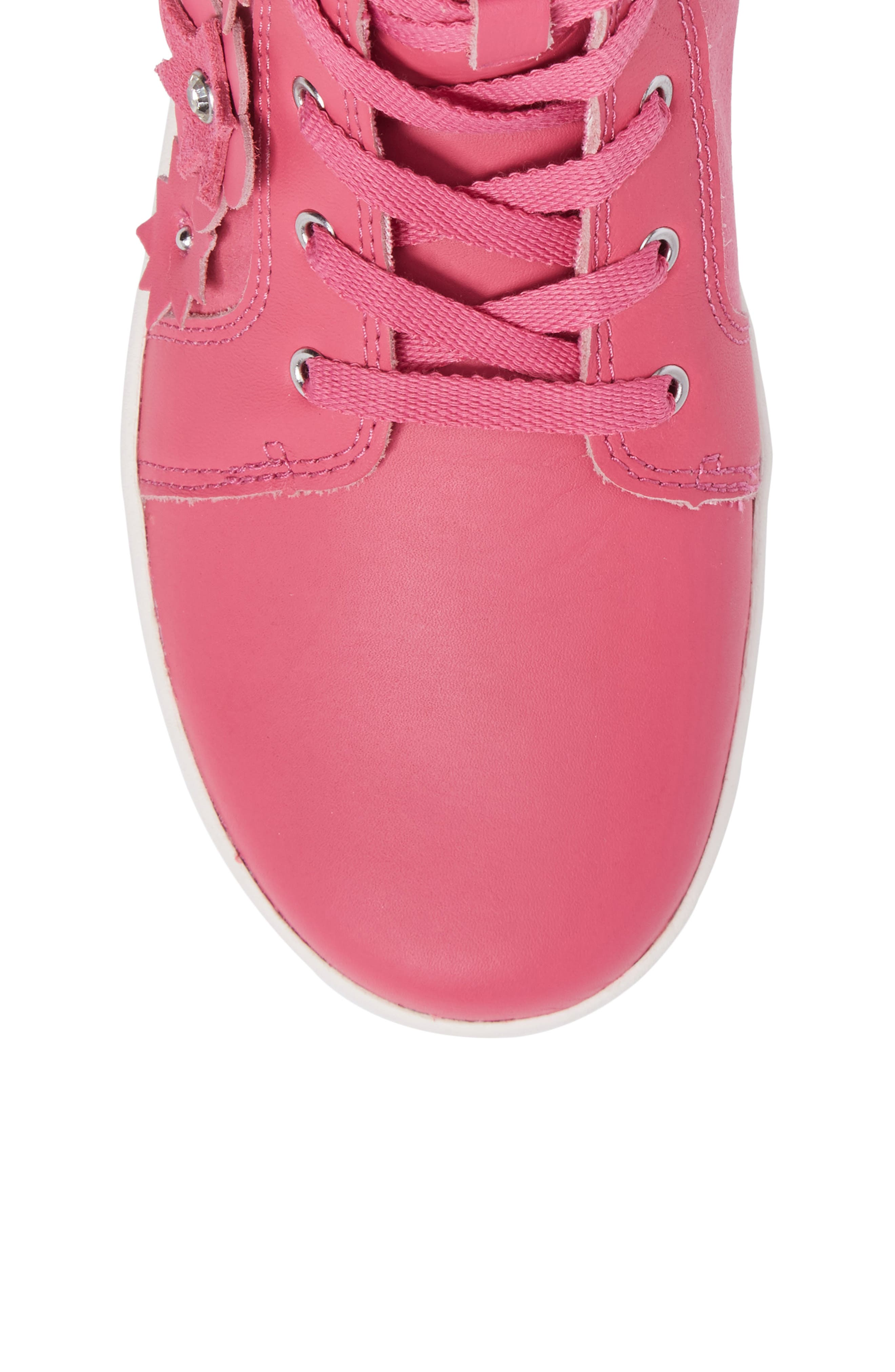 Alternate Image 5  - UGG® Schyler Petal Embellished High Top Sneaker (Little Kid & Big Kid)