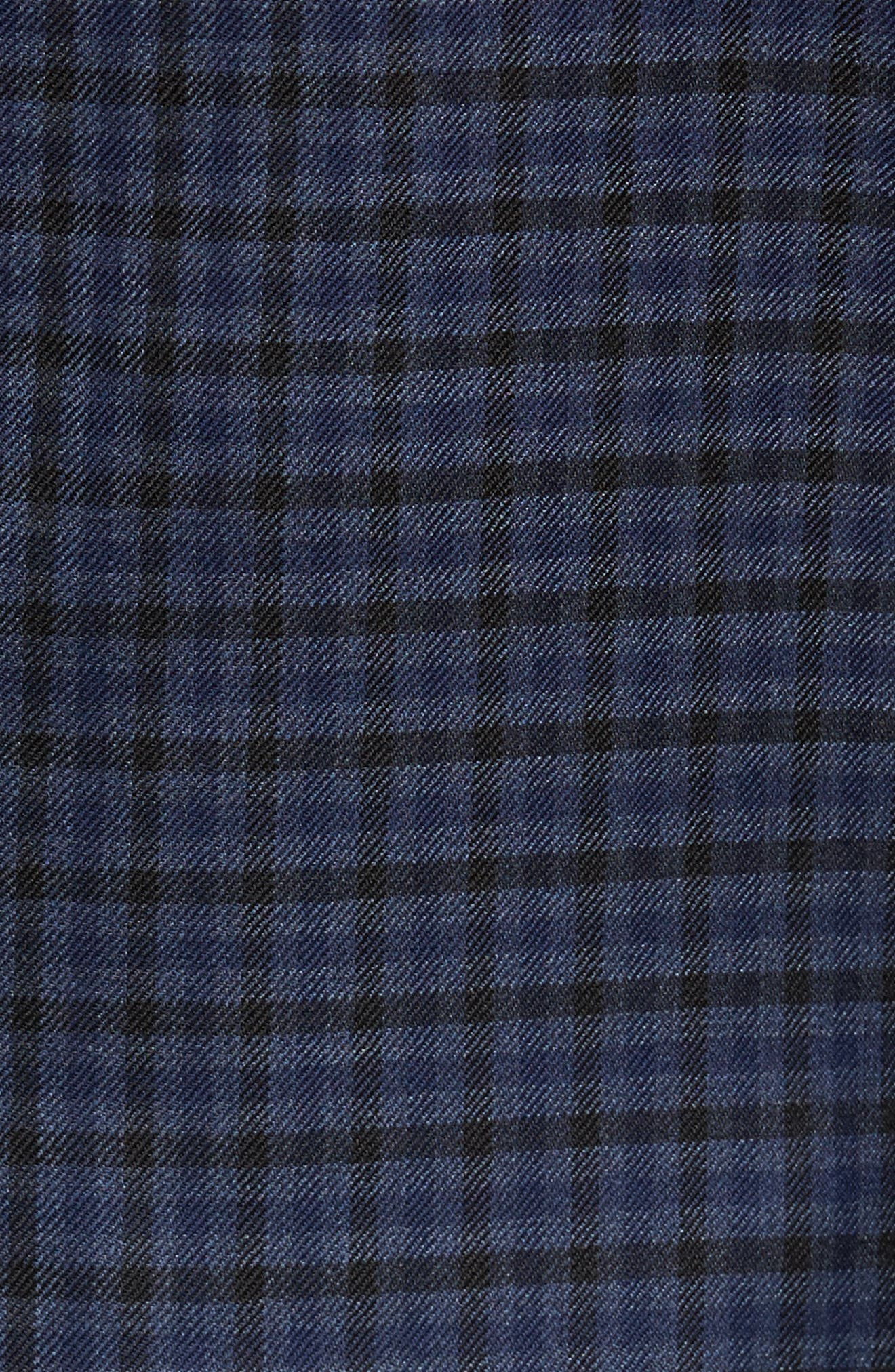 Classic Fit Plaid Wool Sport Coat,                             Alternate thumbnail 5, color,                             Navy