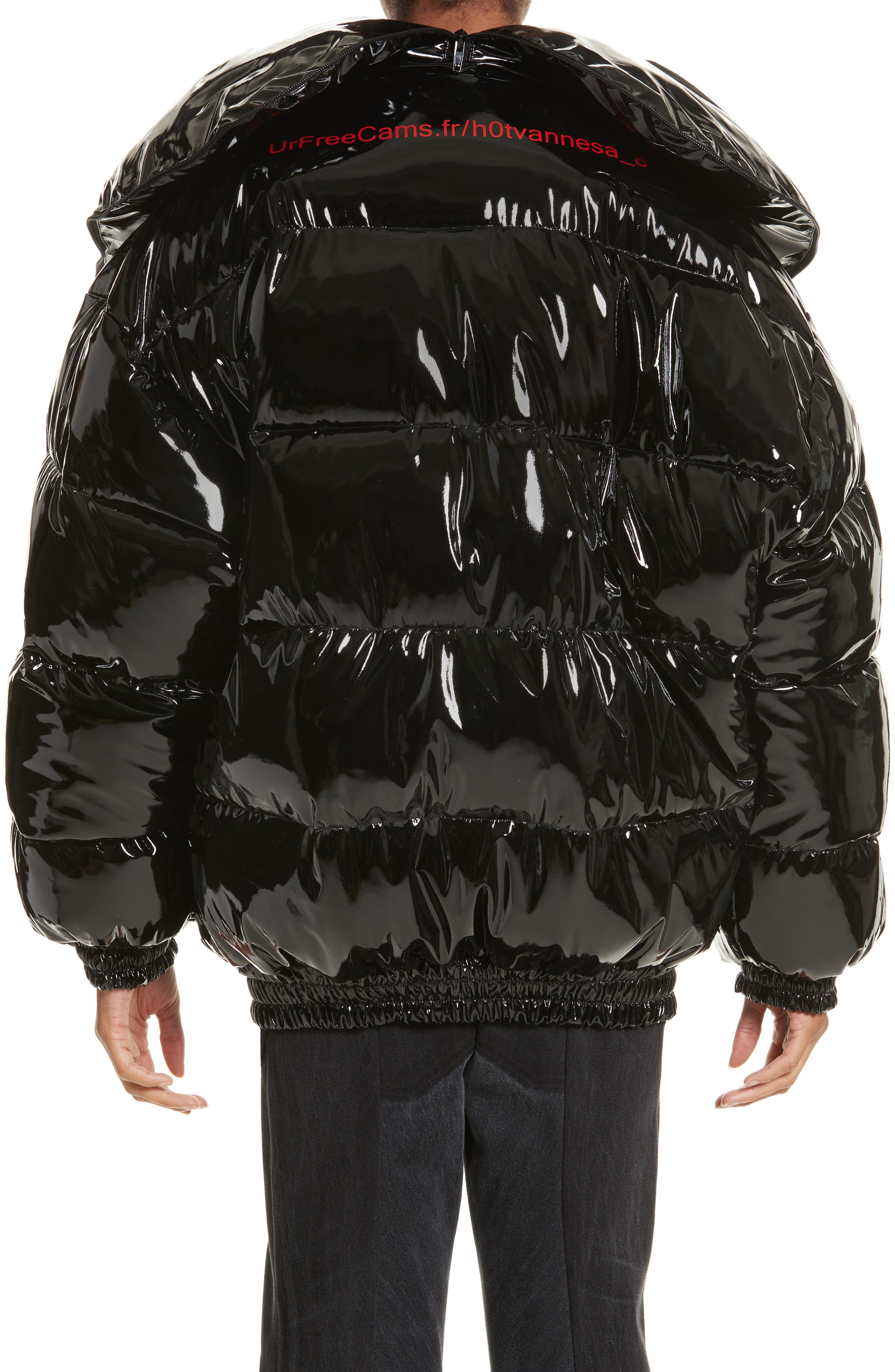 Miss Webcam Puffer Jacket,                             Alternate thumbnail 2, color,                             Black