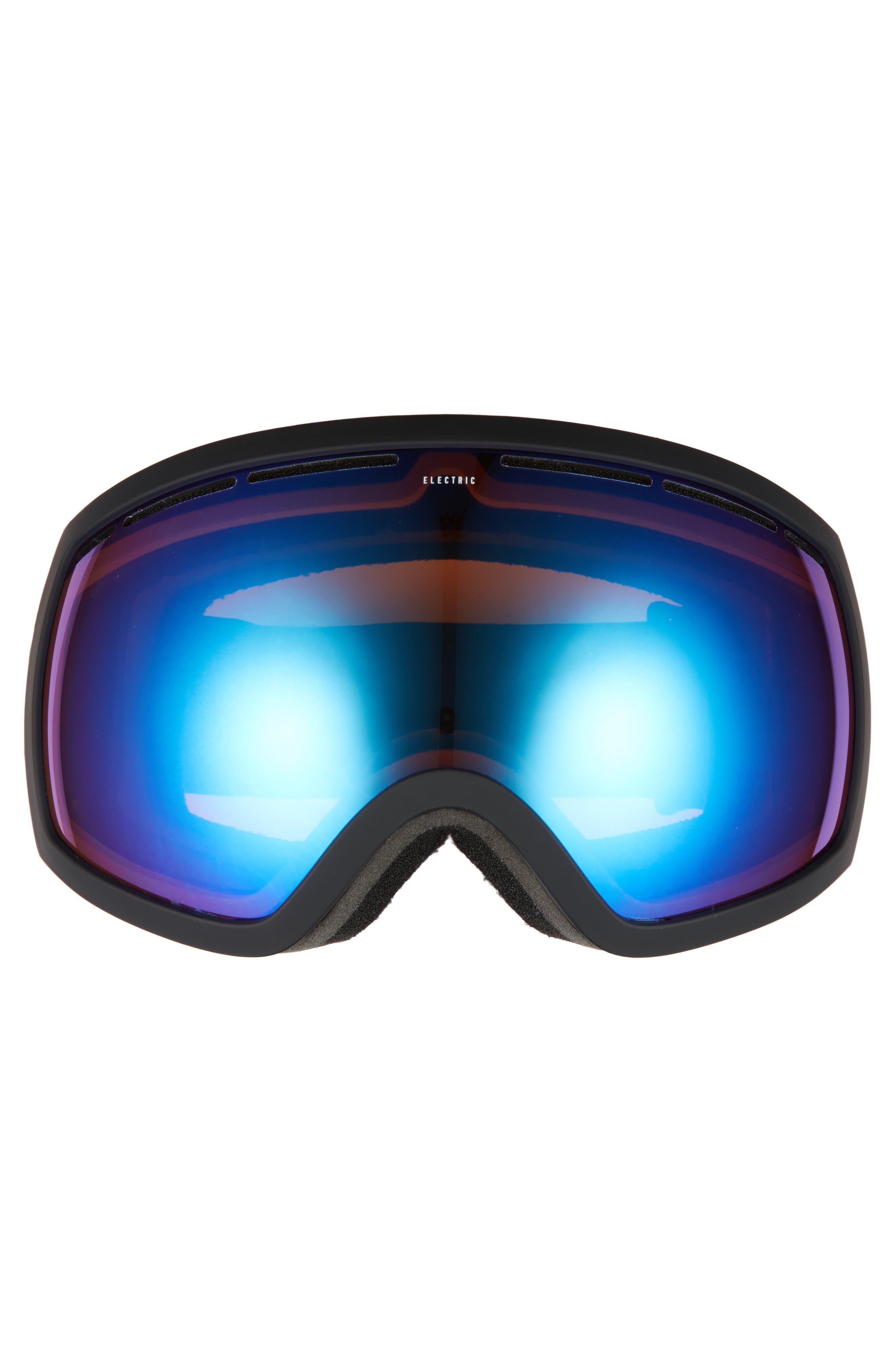 EG2 Snow Goggles,                             Alternate thumbnail 3, color,                             Matte Black/ Blue Chrome