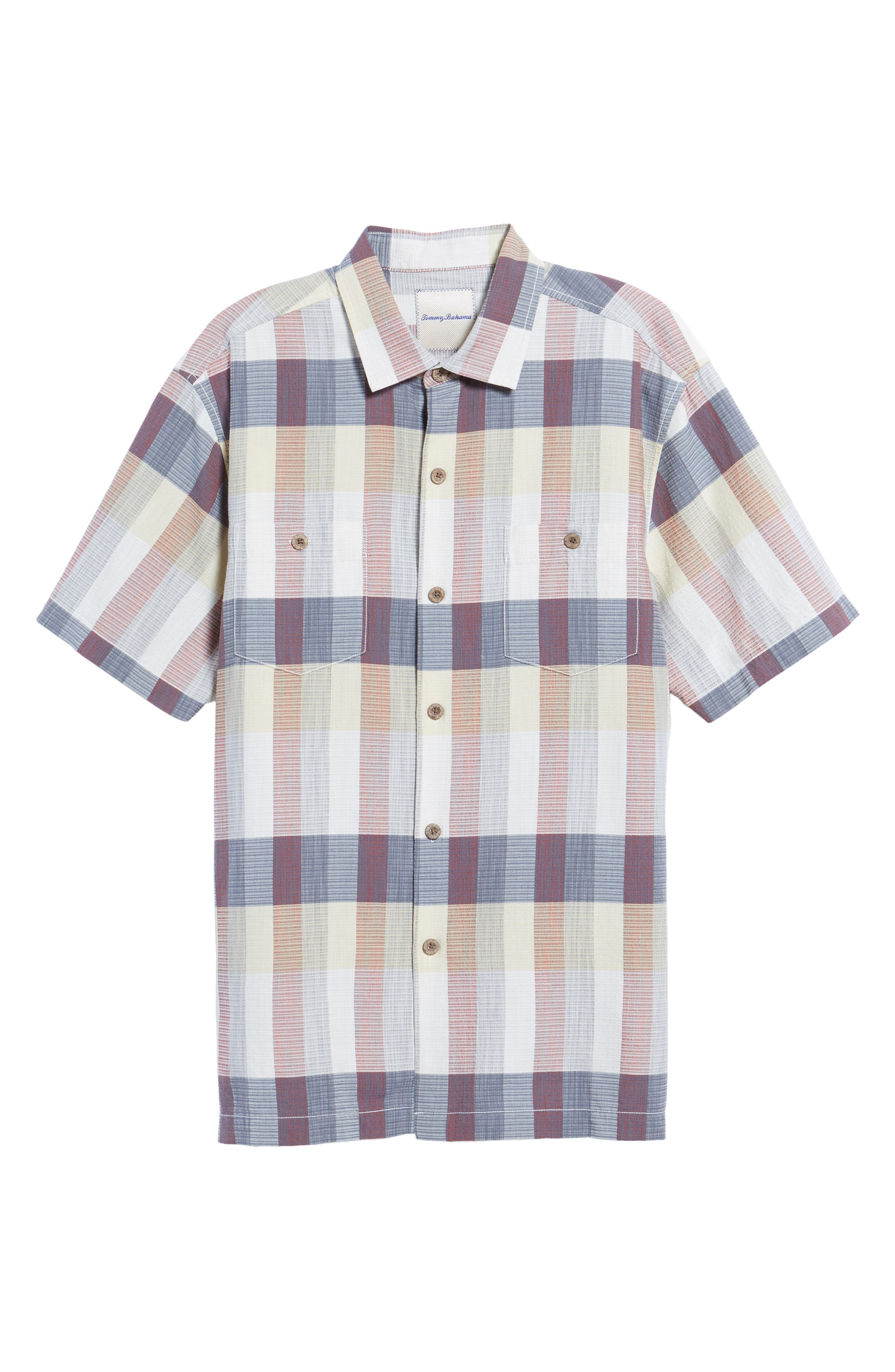 Tamuda Bay Plaid Silk Blend Camp Shirt,                             Alternate thumbnail 6, color,                             Twill