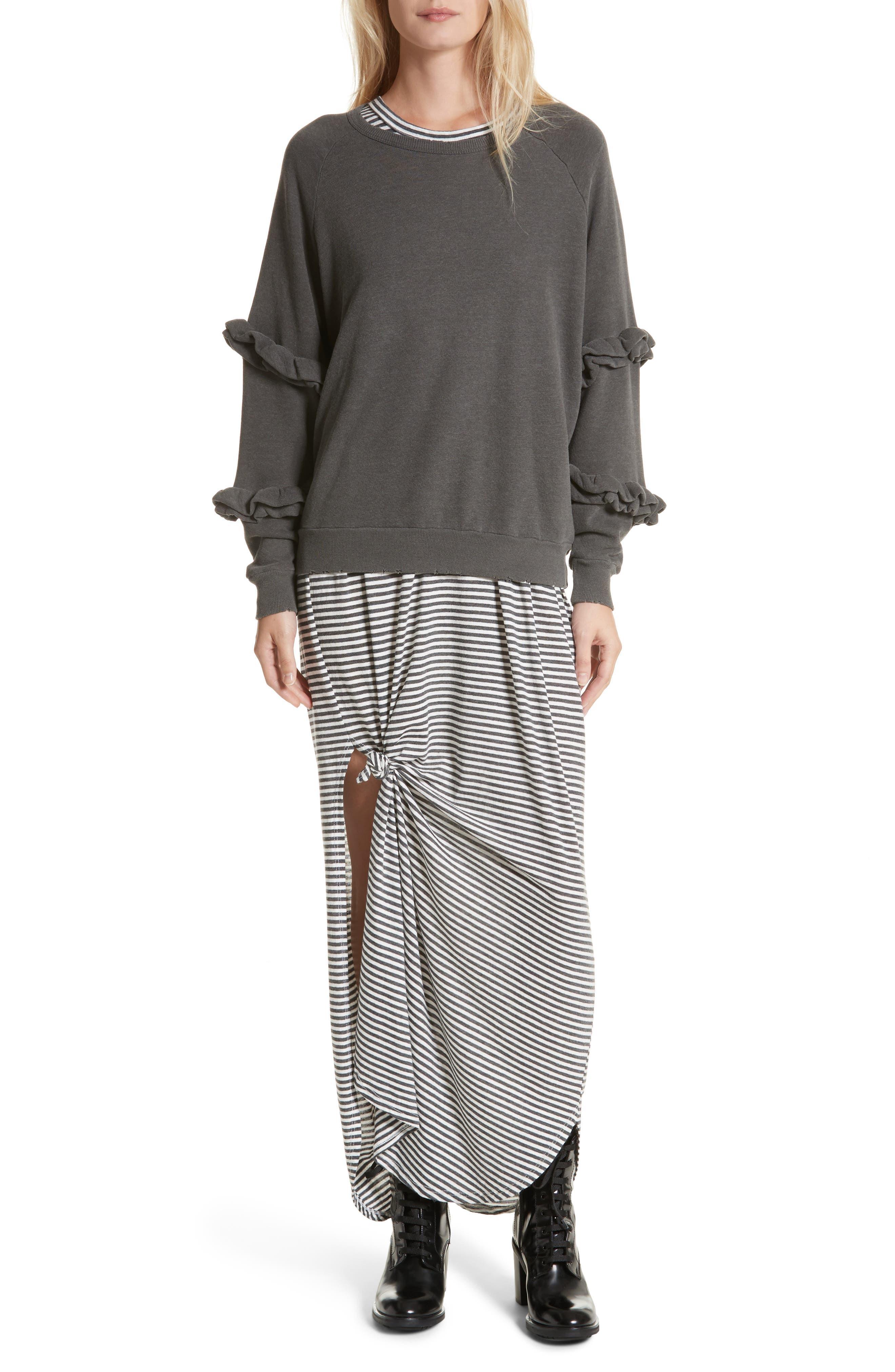 Alternate Image 2  - THE GREAT. The Frill Sleeve Sweatshirt