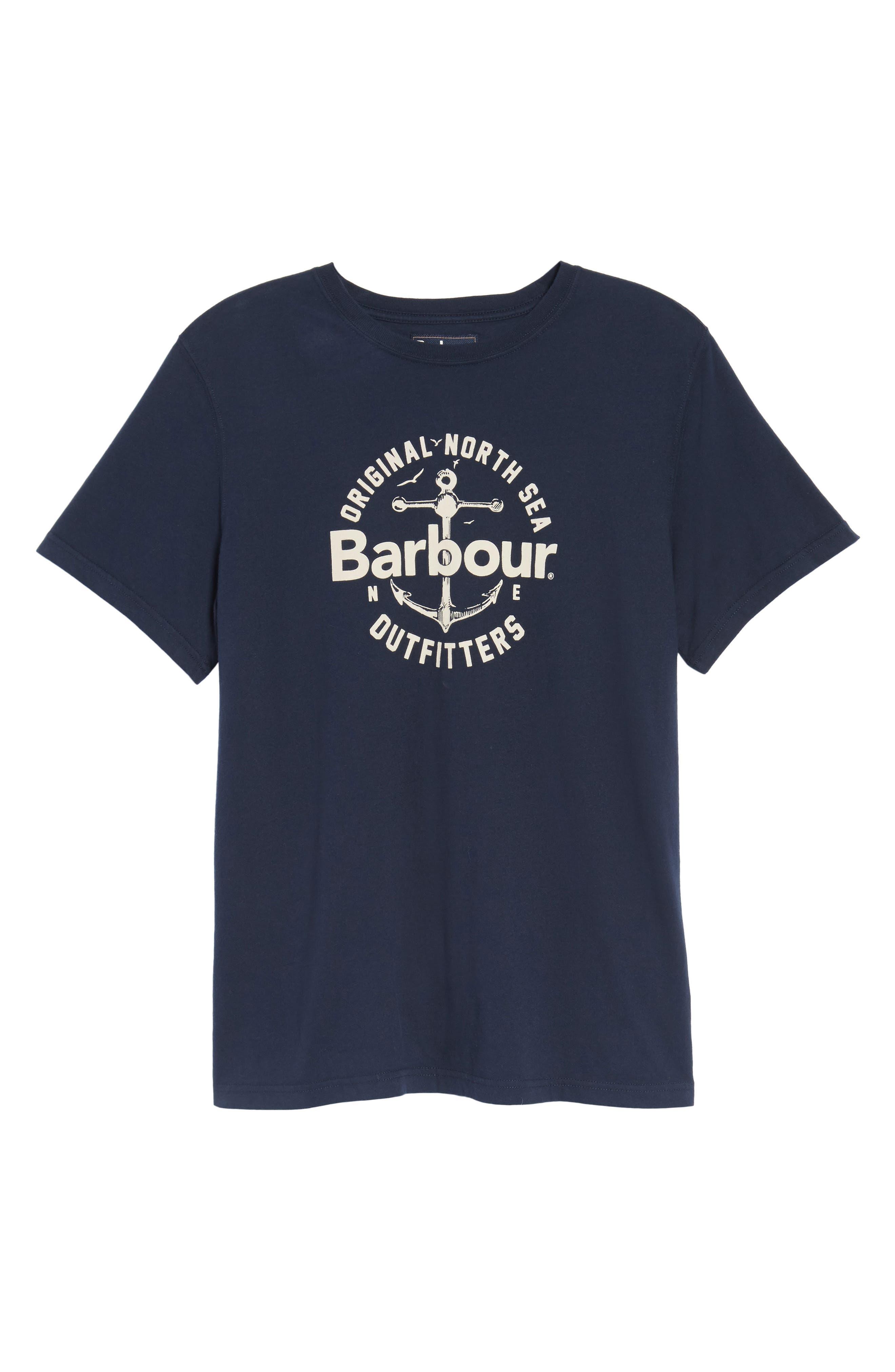 Berwick Logo Graphic T-Shirt,                             Alternate thumbnail 6, color,                             Navy