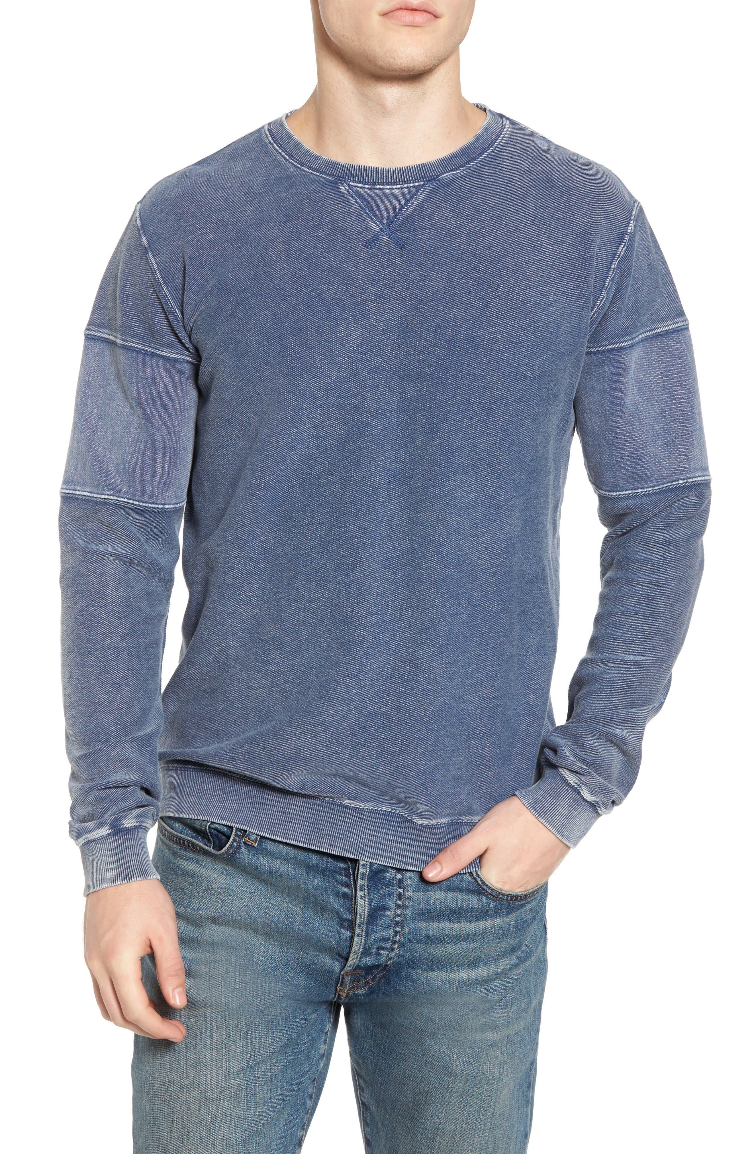 Alternate Image 1 Selected - RVCA Distressed Sweatshirt