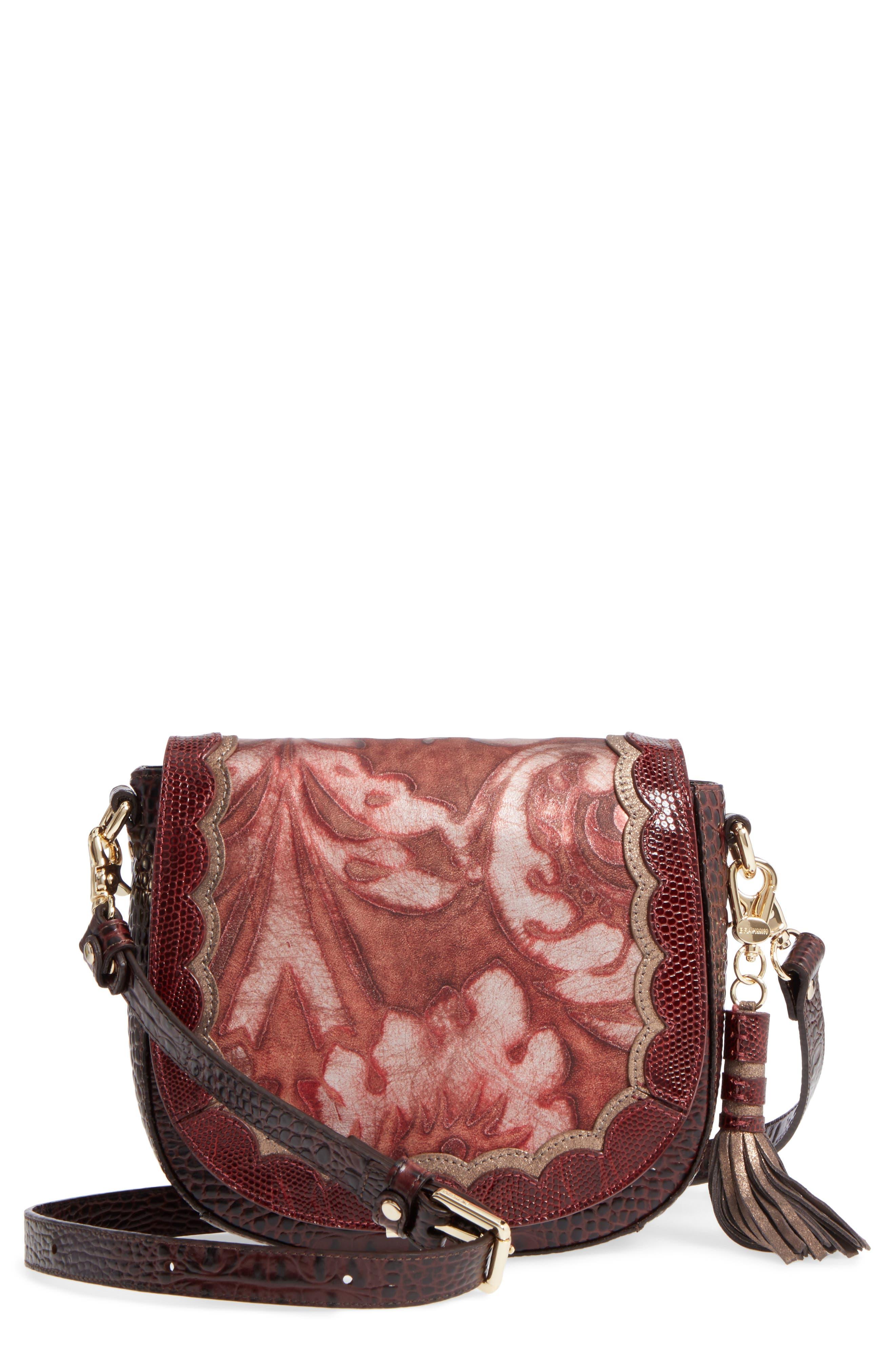 Verona Mini Sonny Leather Crossbody Bag,                             Main thumbnail 1, color,                             Red
