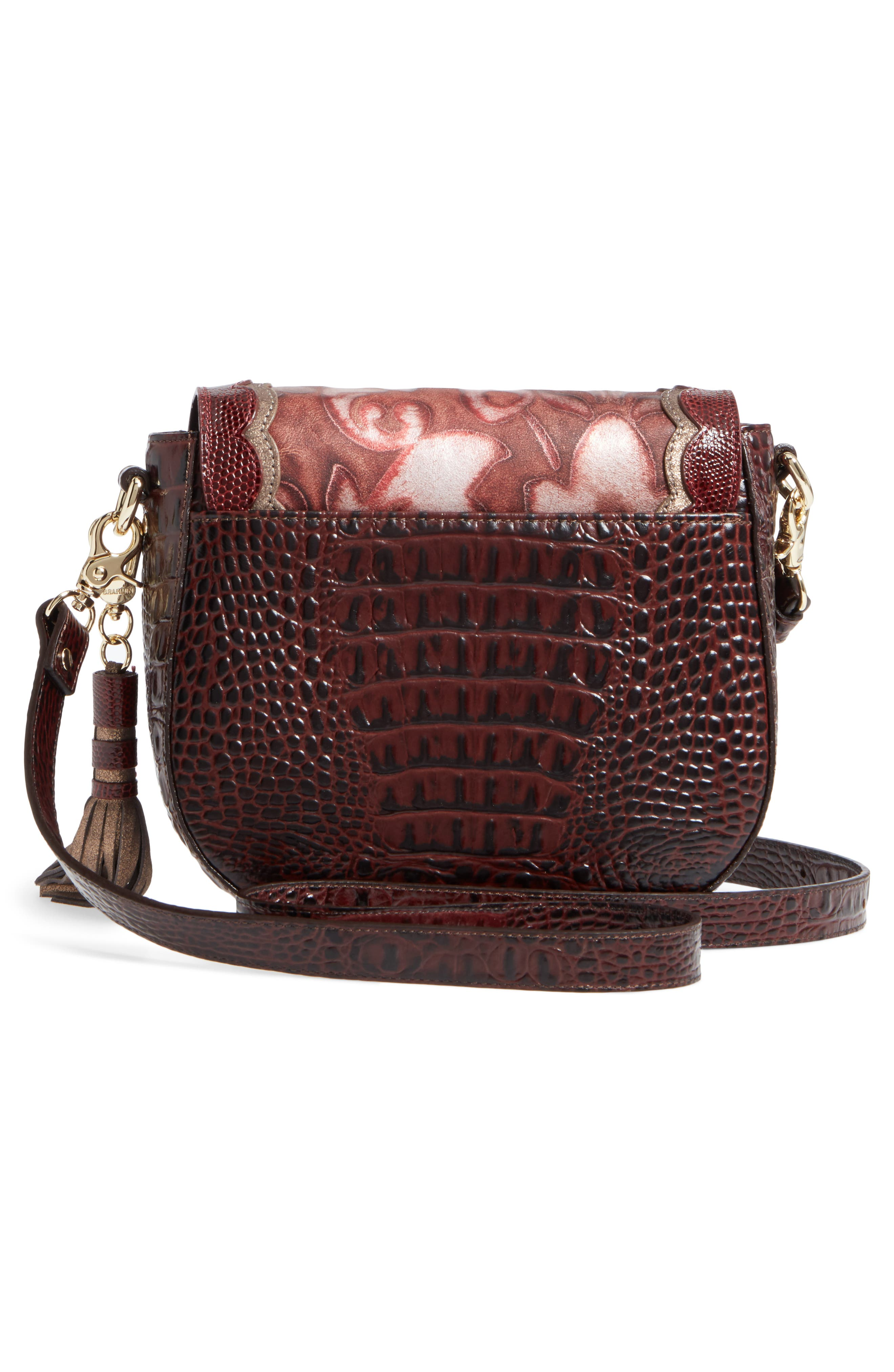 Verona Mini Sonny Leather Crossbody Bag,                             Alternate thumbnail 3, color,                             Red