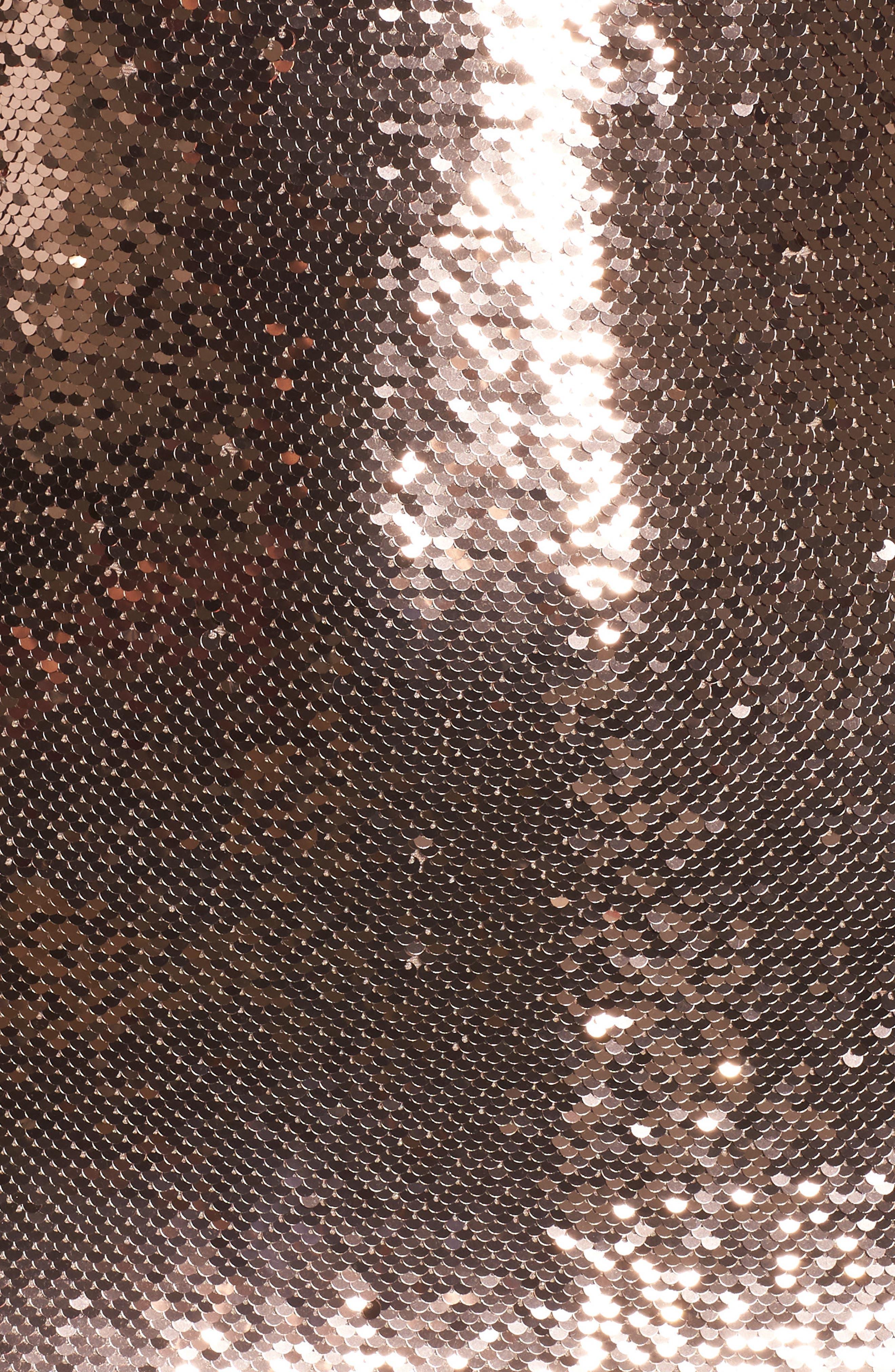 Garland Sequin Sheath Dress,                             Alternate thumbnail 5, color,                             Rose Gold