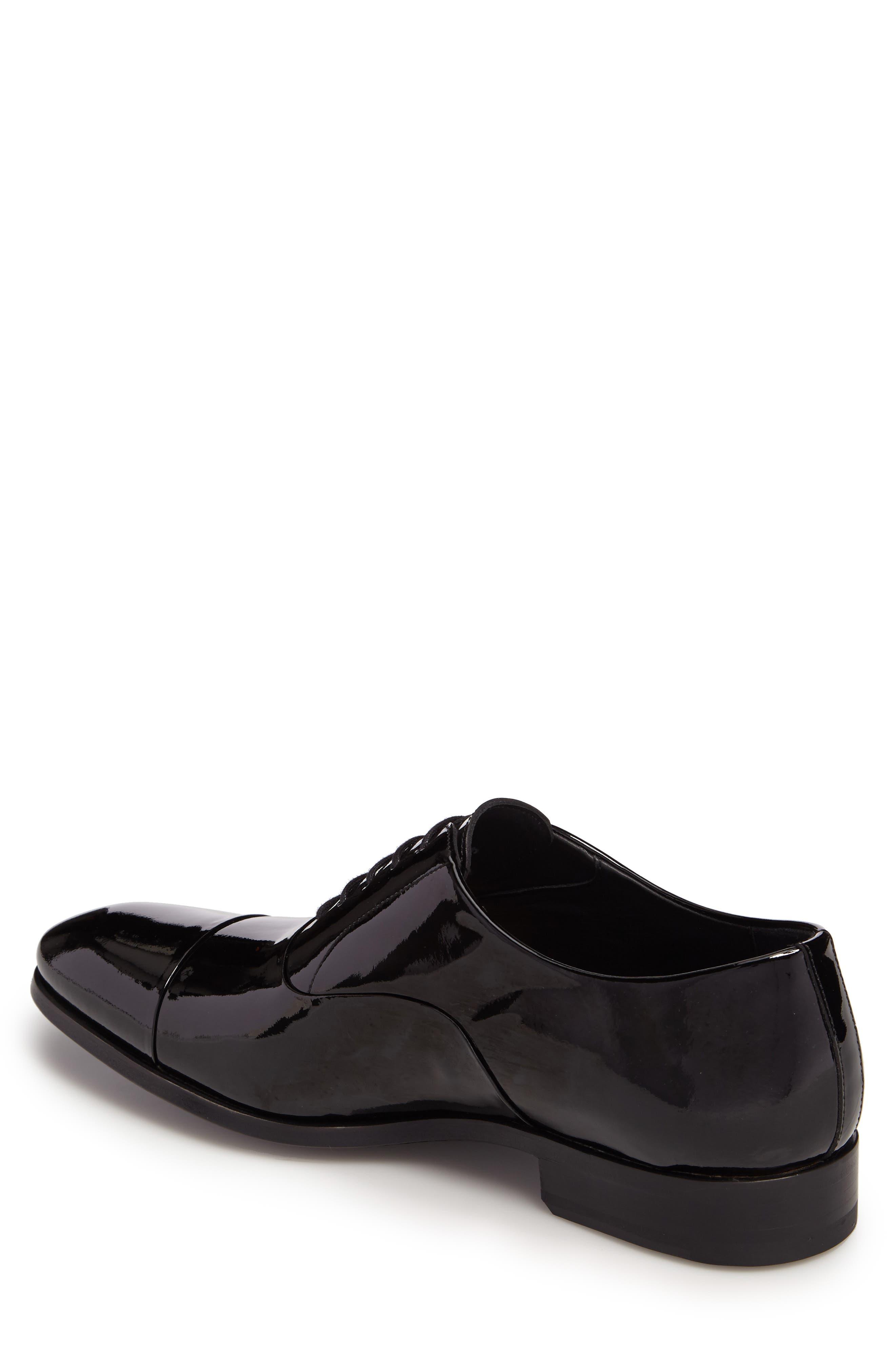 Davian Cap Toe Oxford,                             Alternate thumbnail 2, color,                             Black Patent