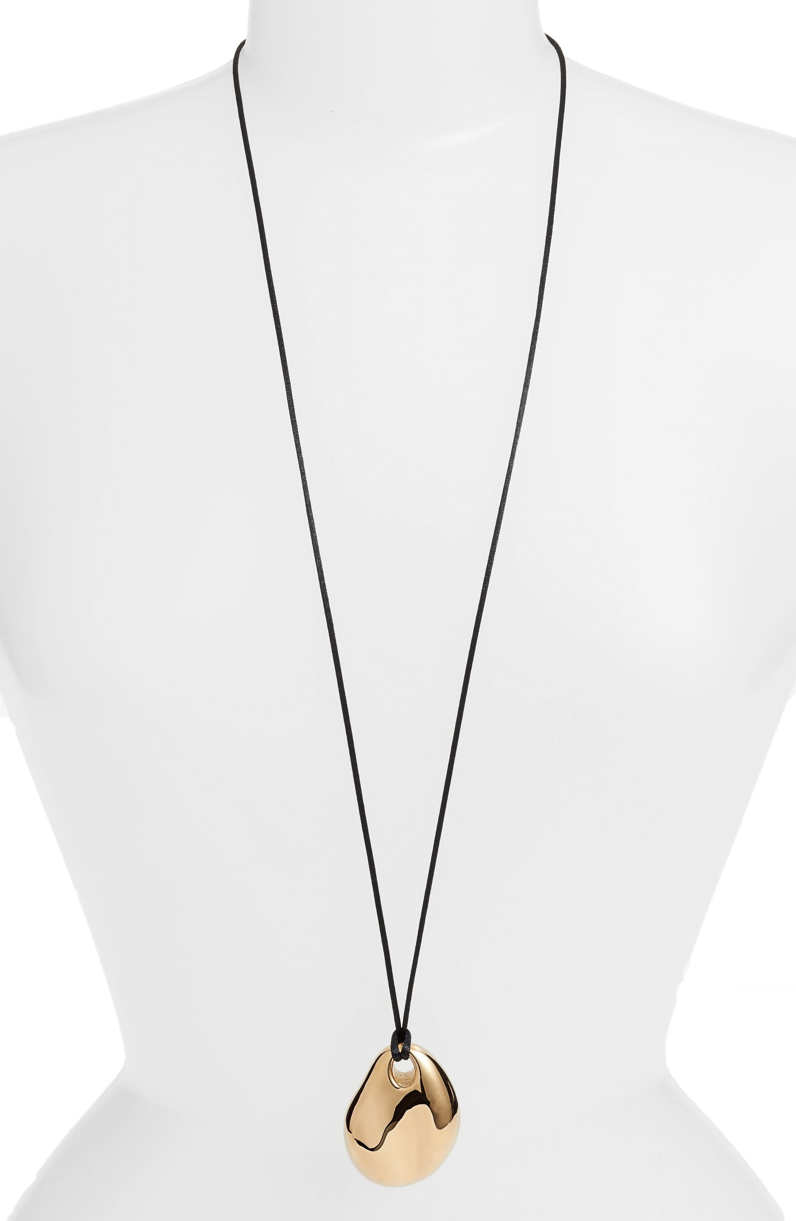 Simon Sebbag Long Vermeil Pendant Necklace
