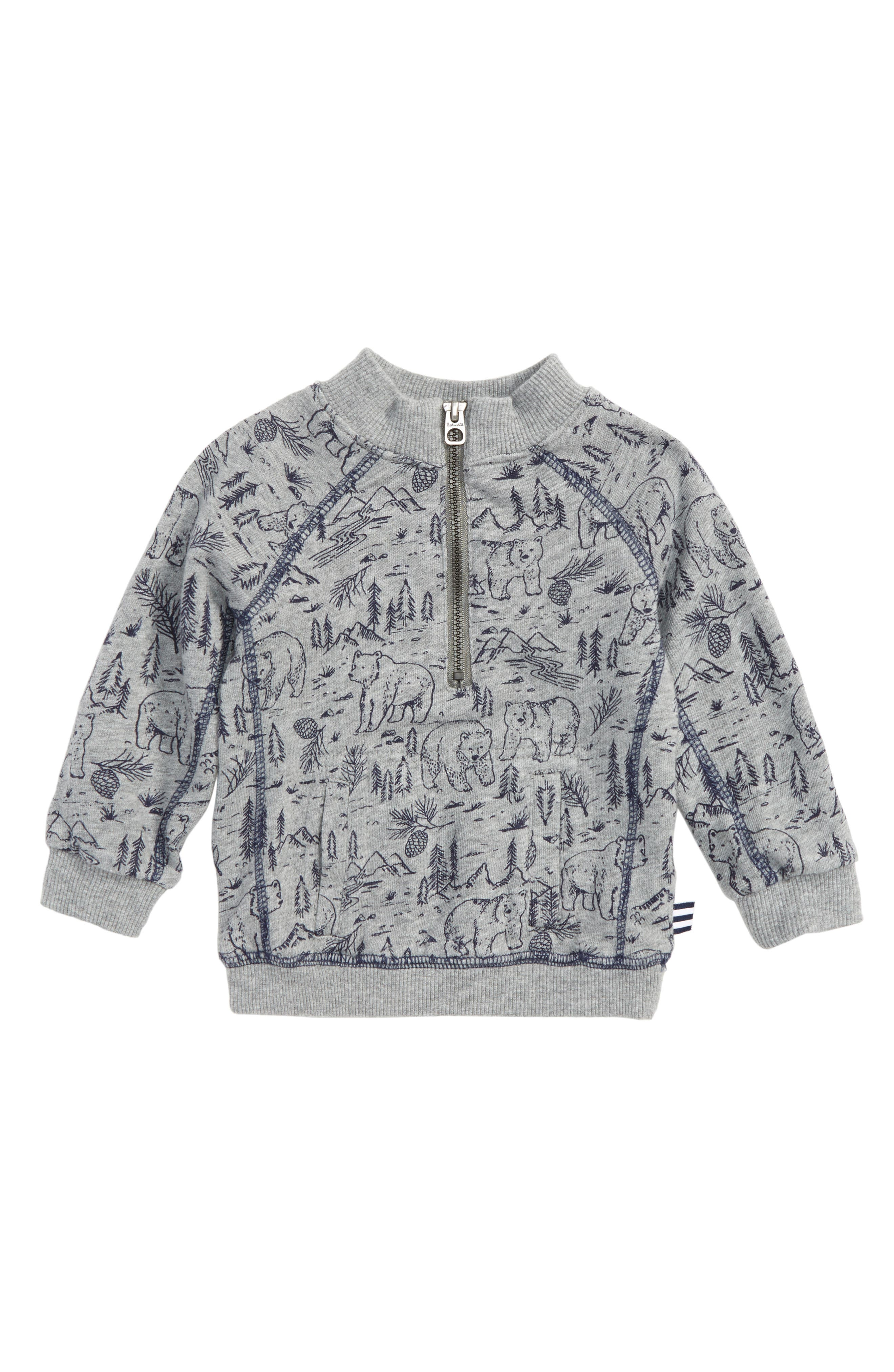 Splendid Quarter Zip Sweatshirt (Baby Boys)