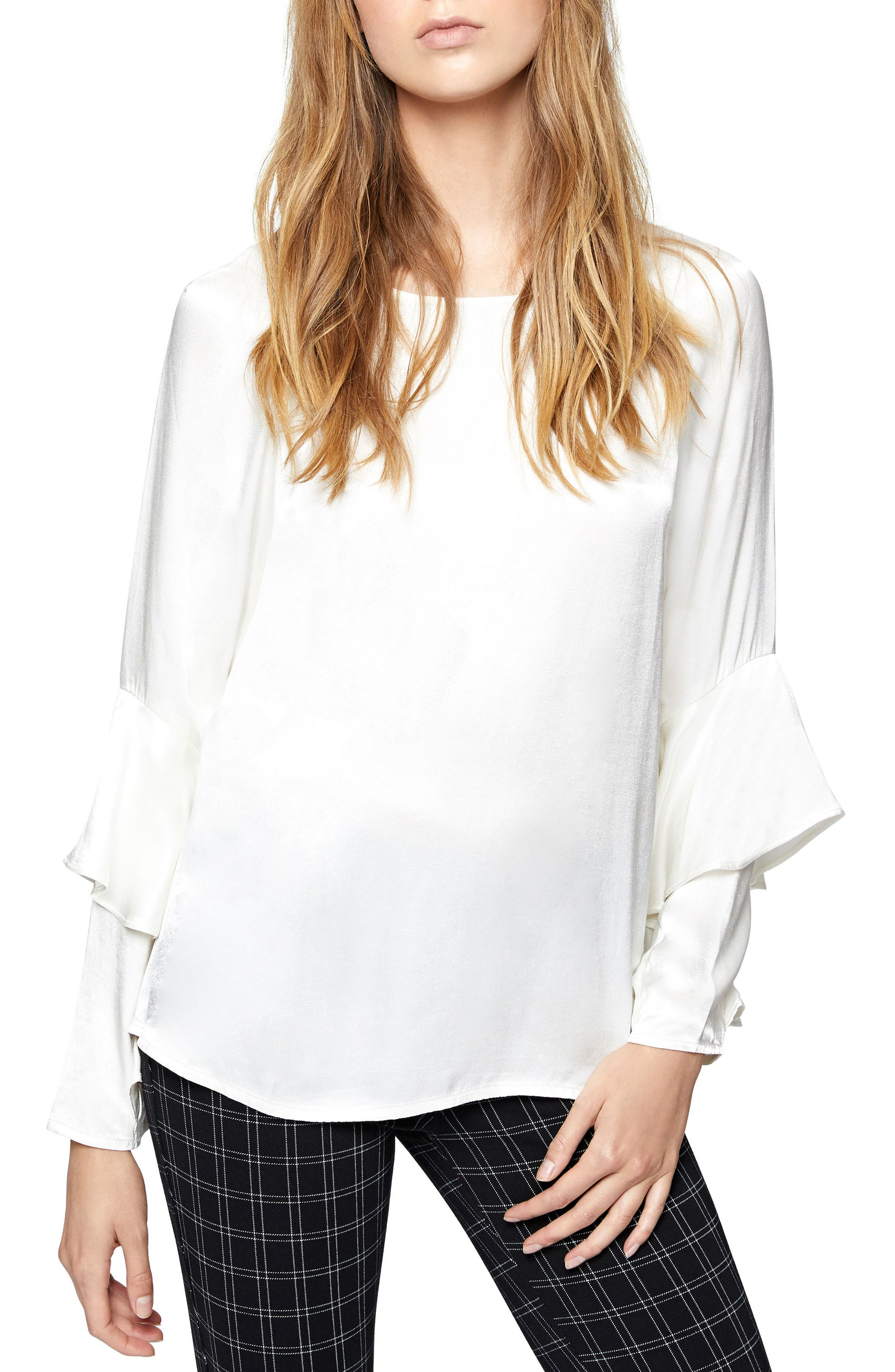 Moonchild Ruffle Top,                         Main,                         color, Frosted Milk