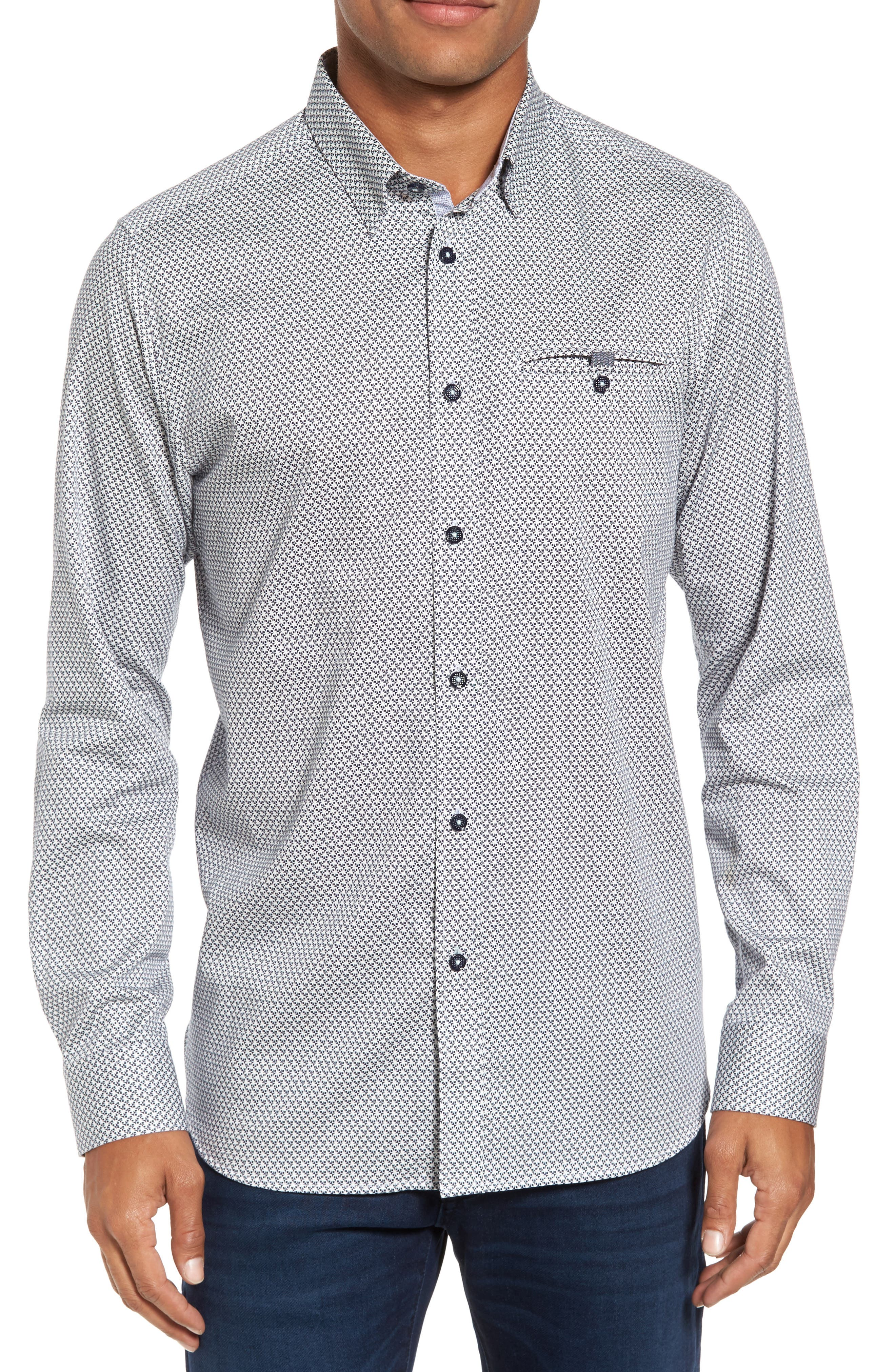 Alternate Image 1 Selected - Ted Baker London Vilamor Extra Slim Fit Print Sport Shirt