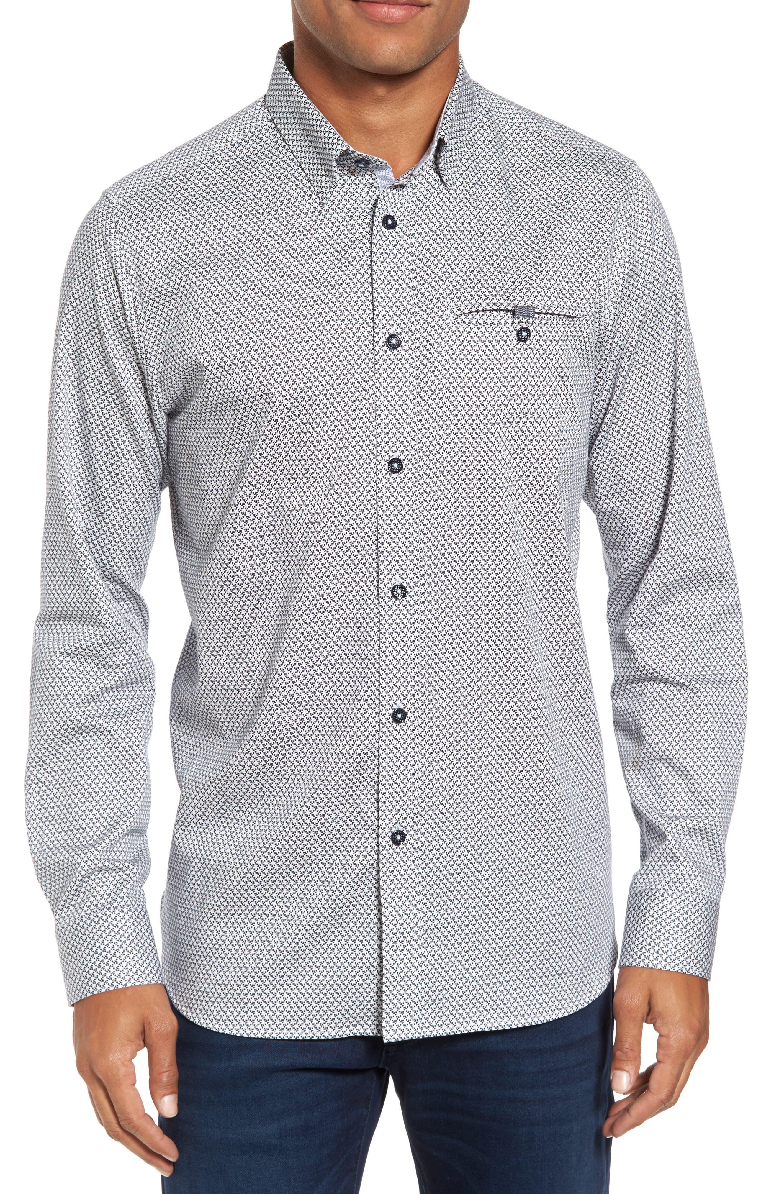 Main Image - Ted Baker London Vilamor Extra Slim Fit Print Sport Shirt