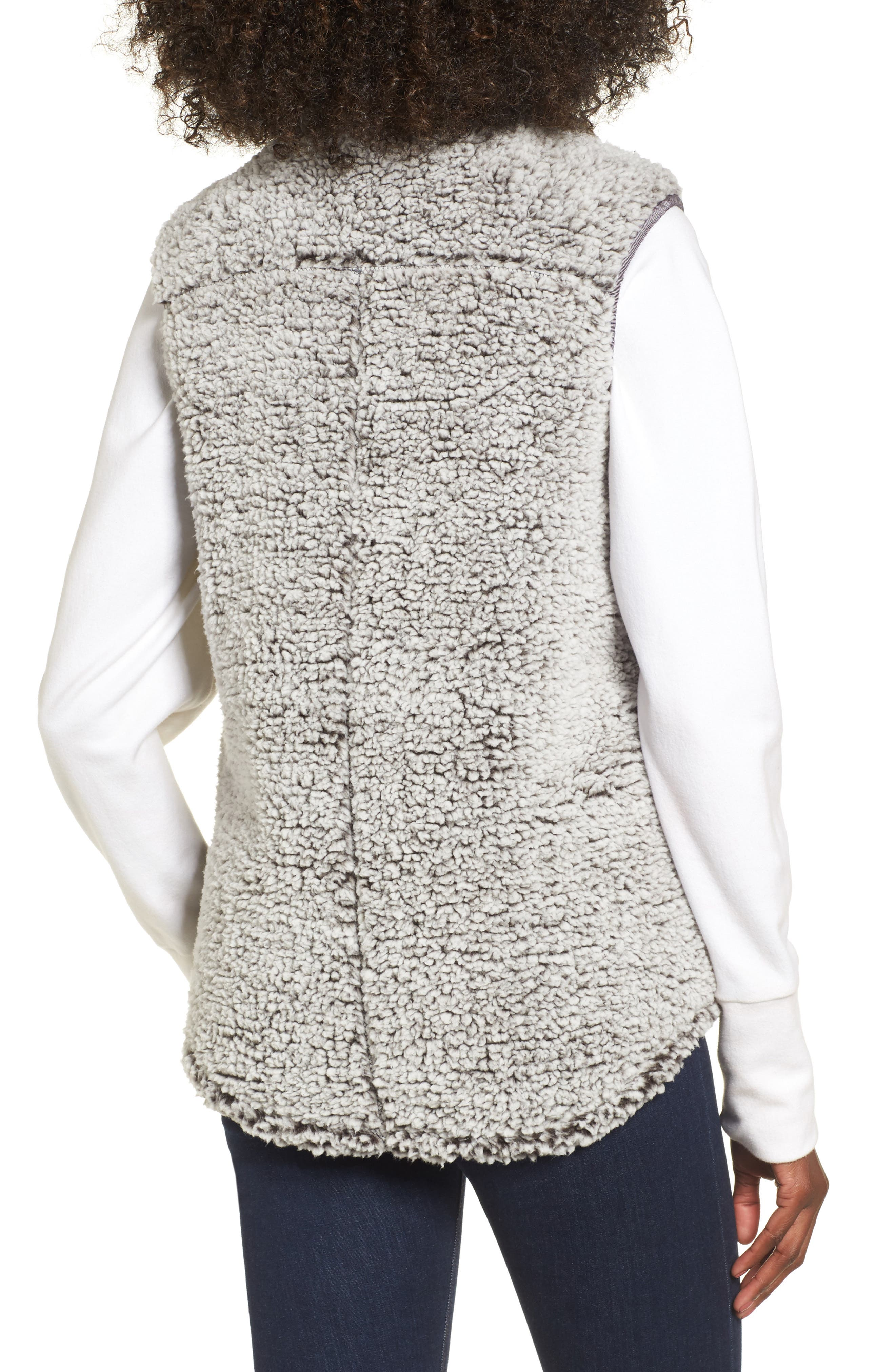 Arctic Fleece Vest,                             Alternate thumbnail 2, color,                             Charcoal