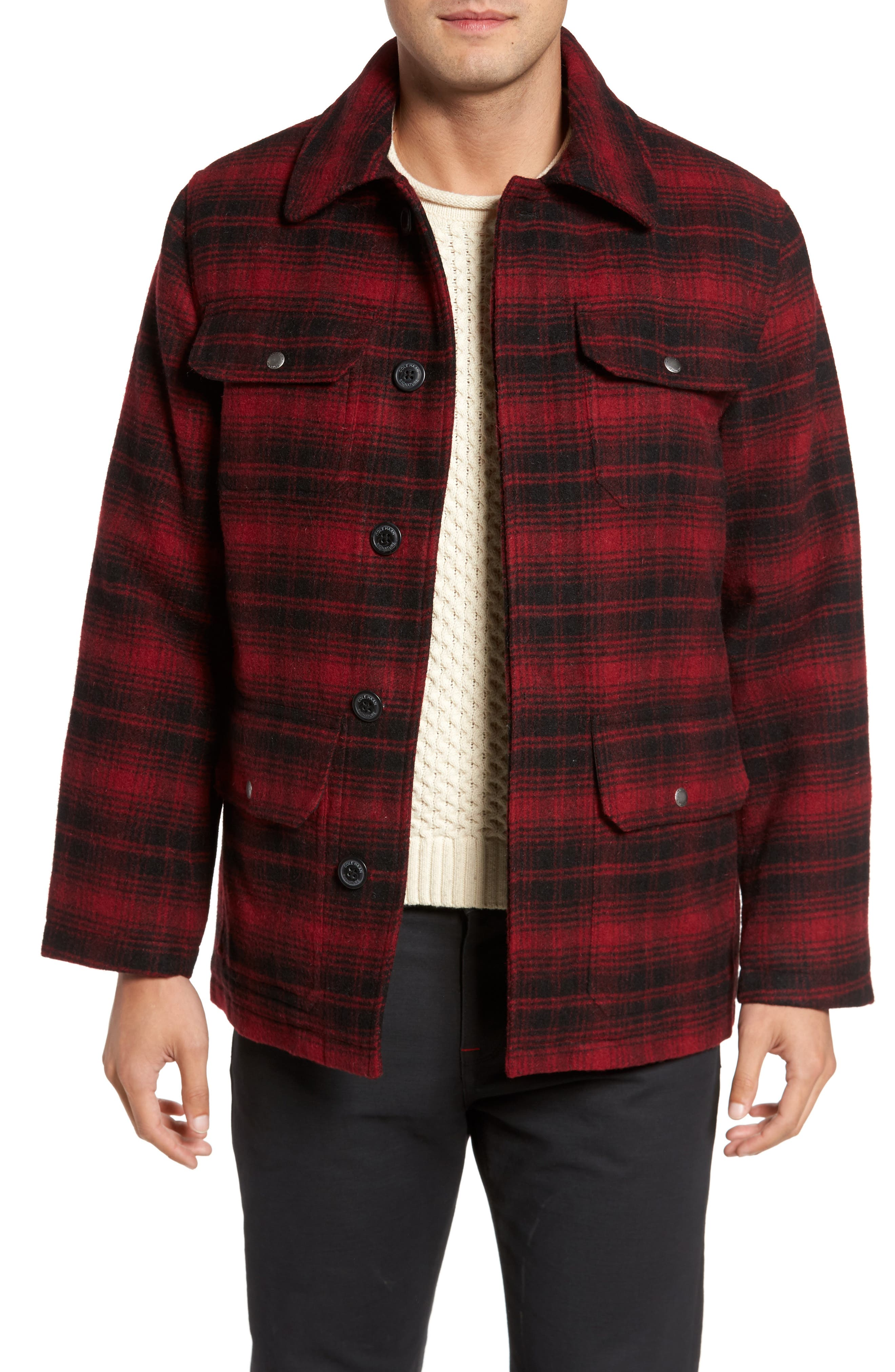 Main Image - Cole Haan Hunter Jack Wool Blend Shirt Jacket