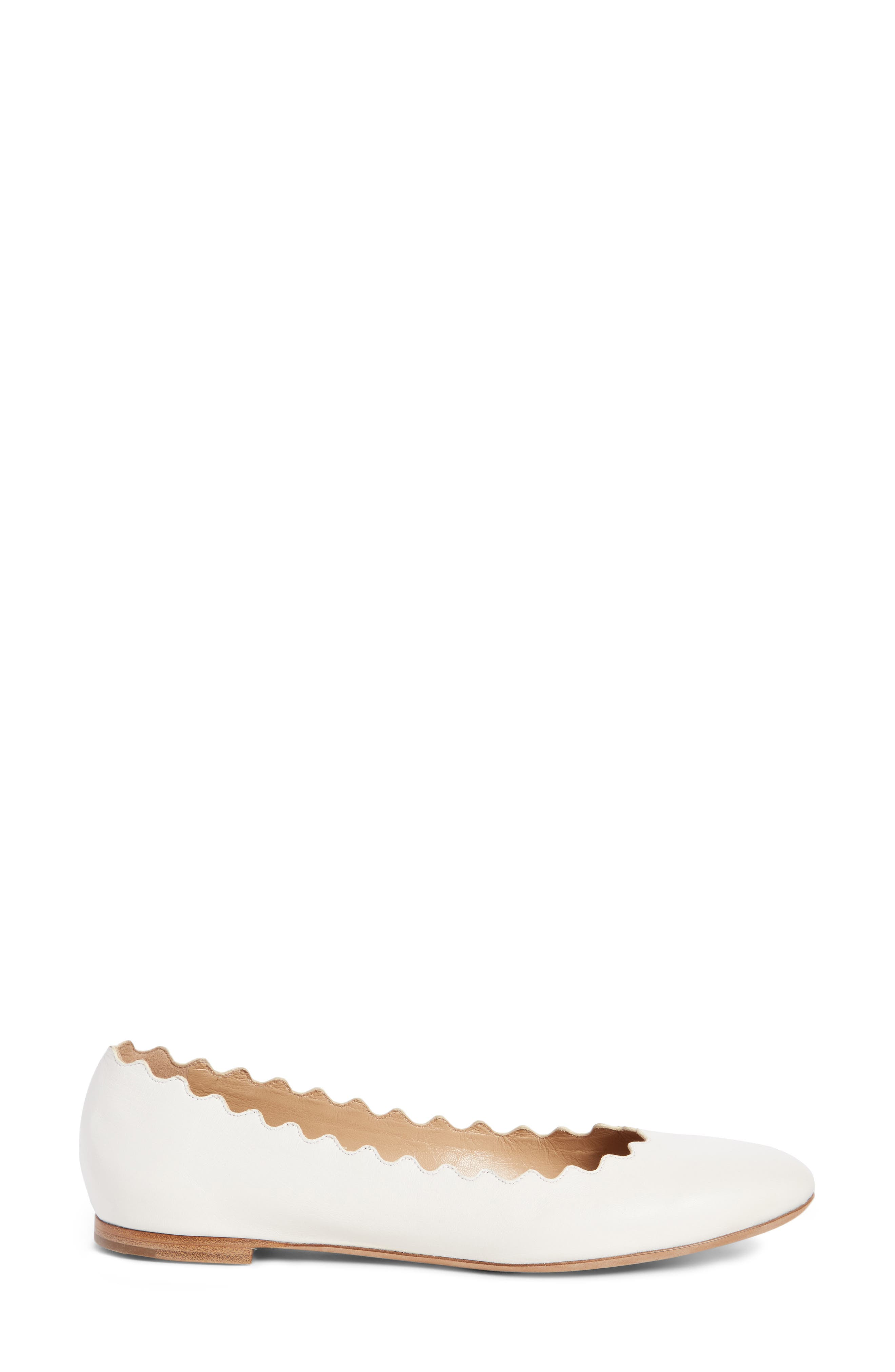 Alternate Image 4  - Chloé 'Lauren' Scalloped Ballet Flat (Women)