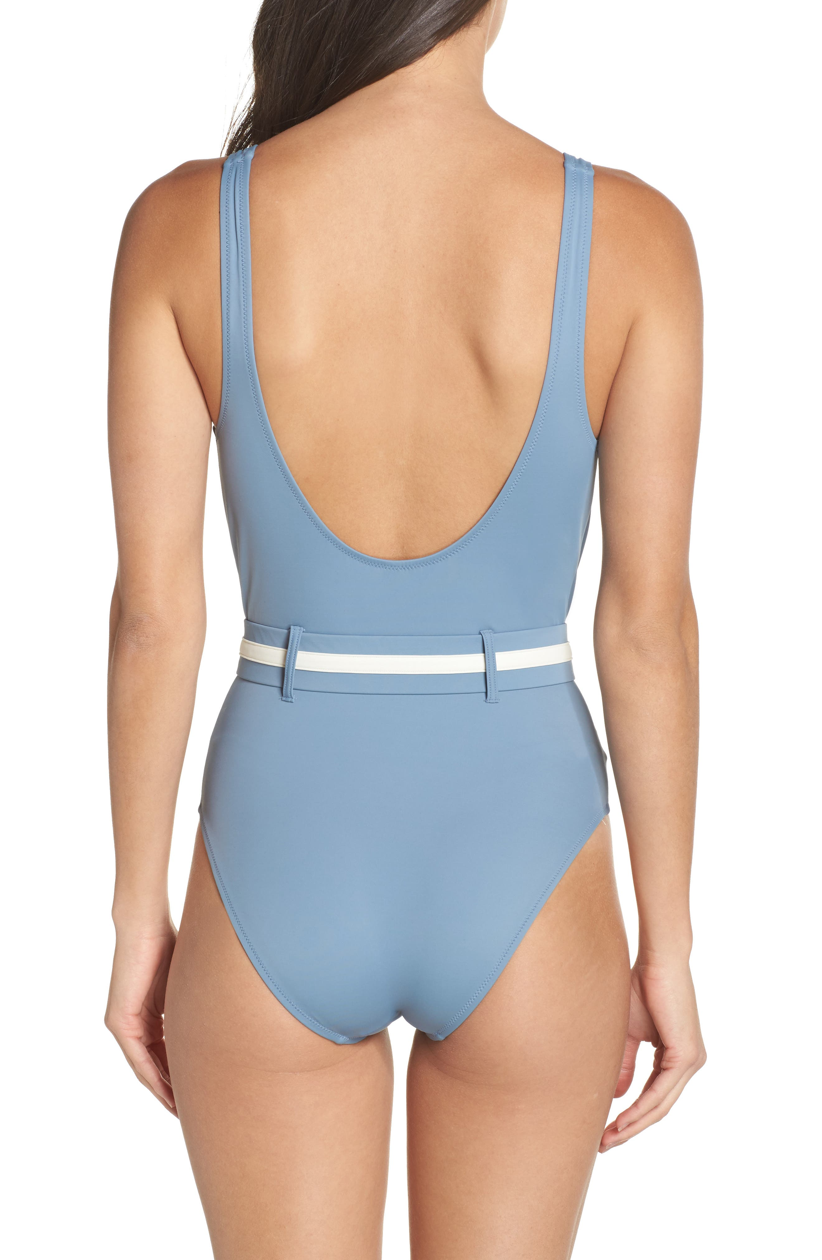 The Victoria One-Piece Swimsuit,                             Alternate thumbnail 2, color,                             Ice