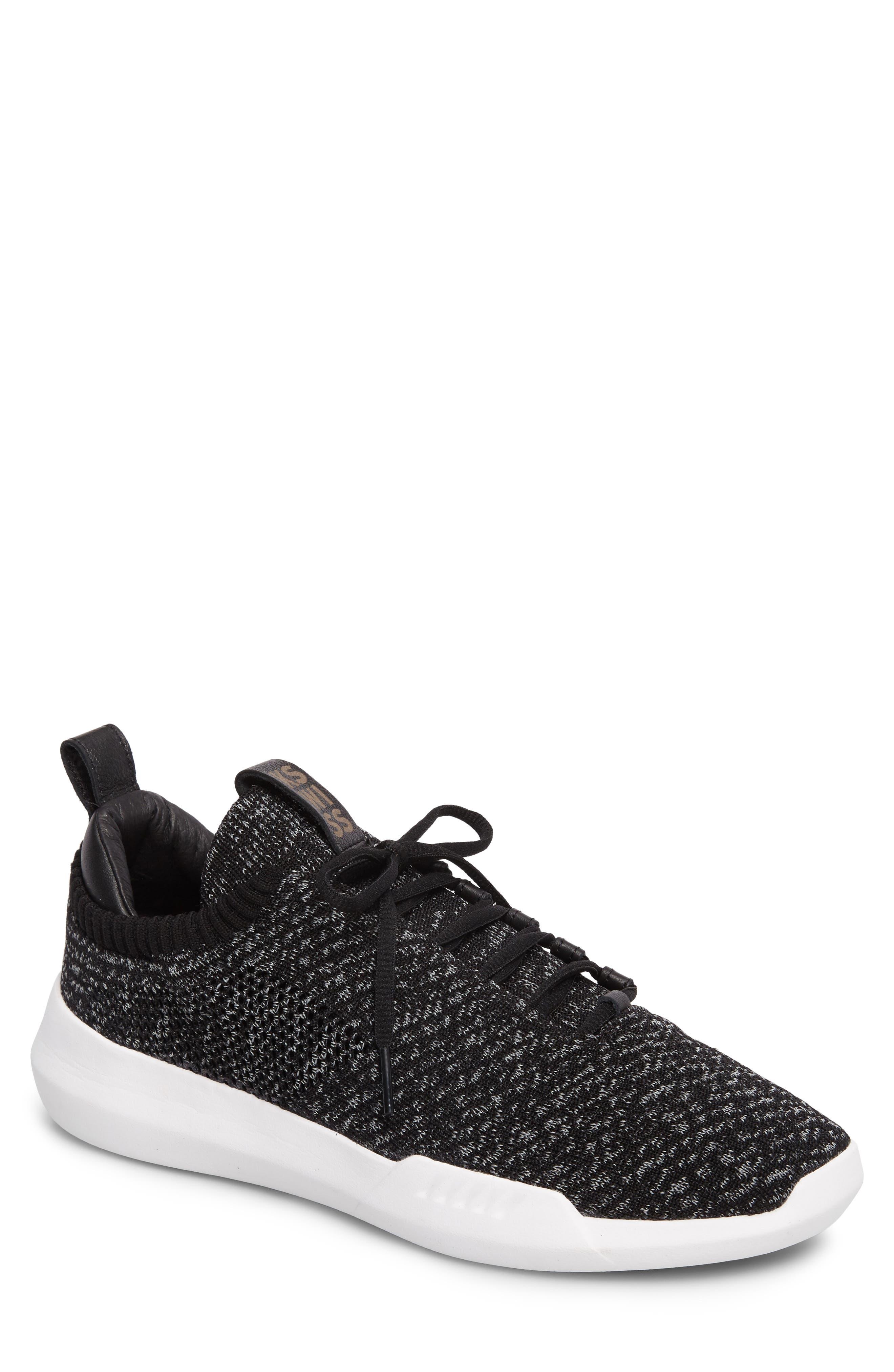 Gen-K Icon Knit Sneaker,                             Main thumbnail 1, color,                             Black/ Grey Heather