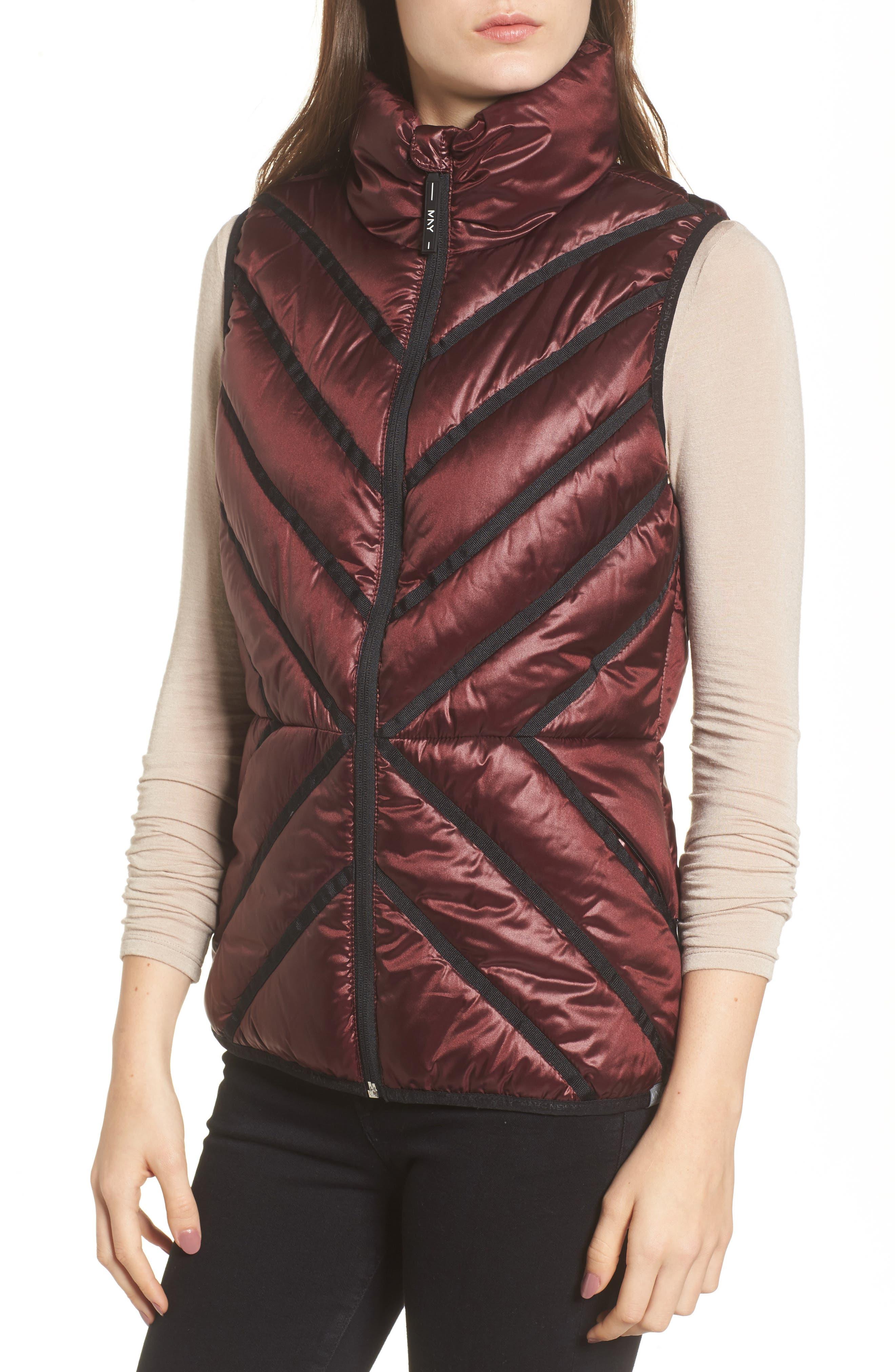 Alternate Image 4  - Marc New York Chevron Quilt Puffer Vest