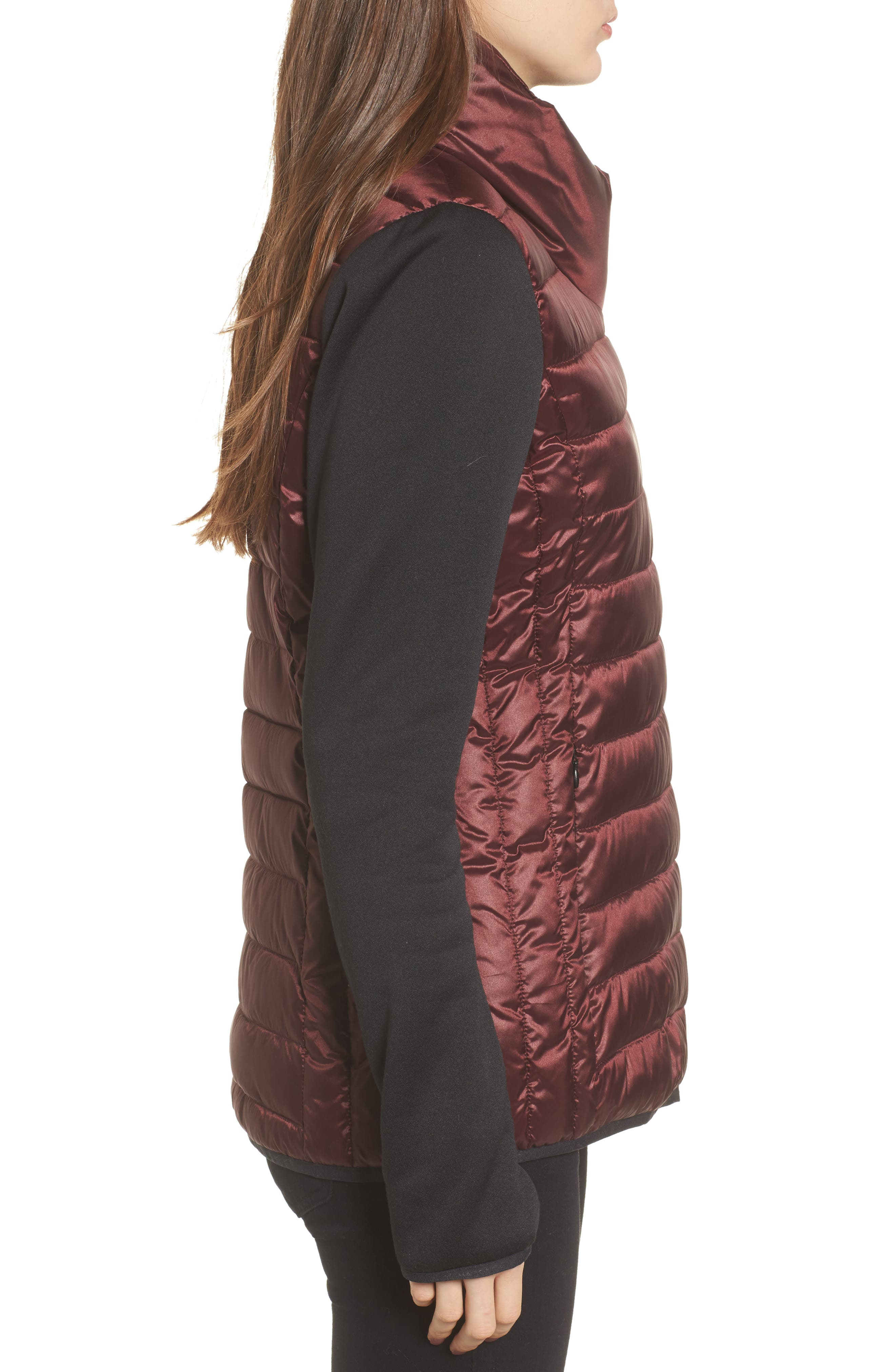 Alternate Image 3  - Marc New York Knit Sleeve Packable Puffer Jacket