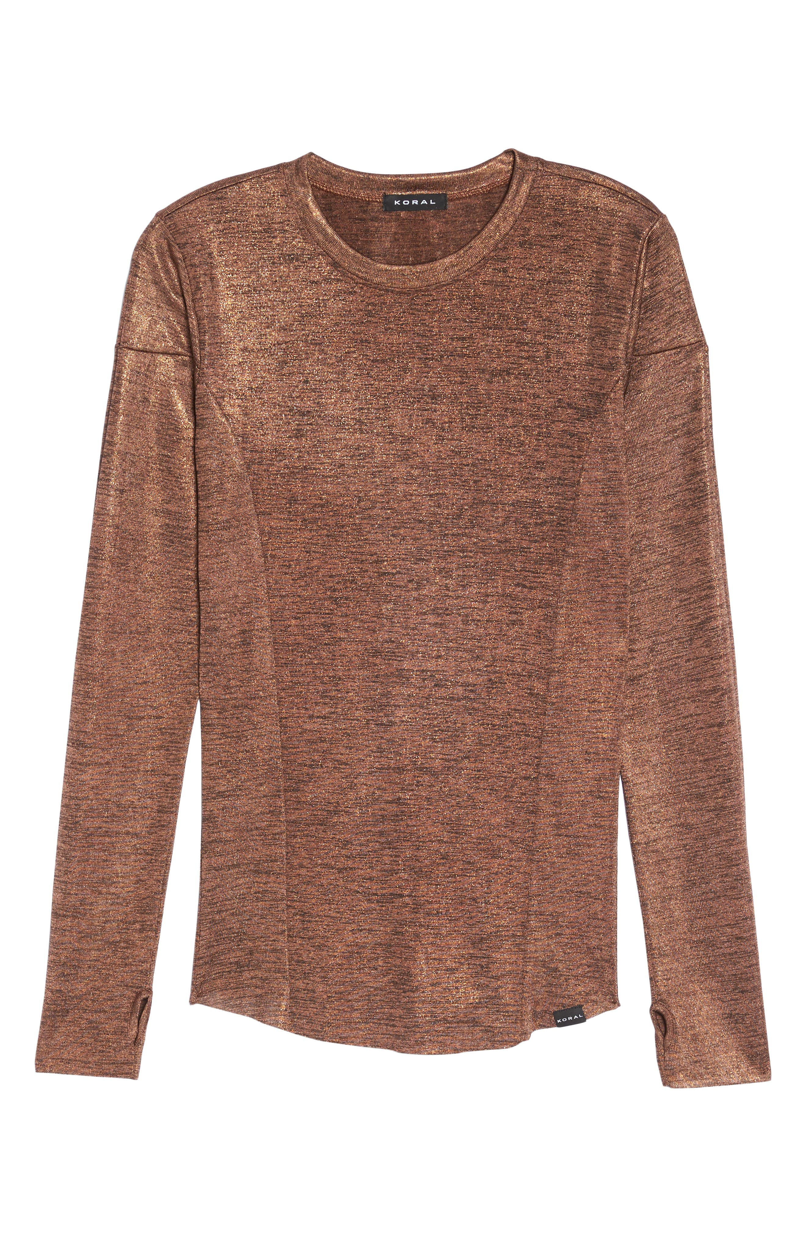 Brick Tee,                             Alternate thumbnail 7, color,                             Copper Heather