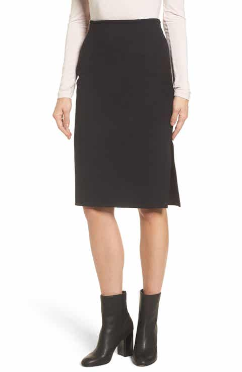 Halogen® High Waist Knit Skirt (Regular & Petite)
