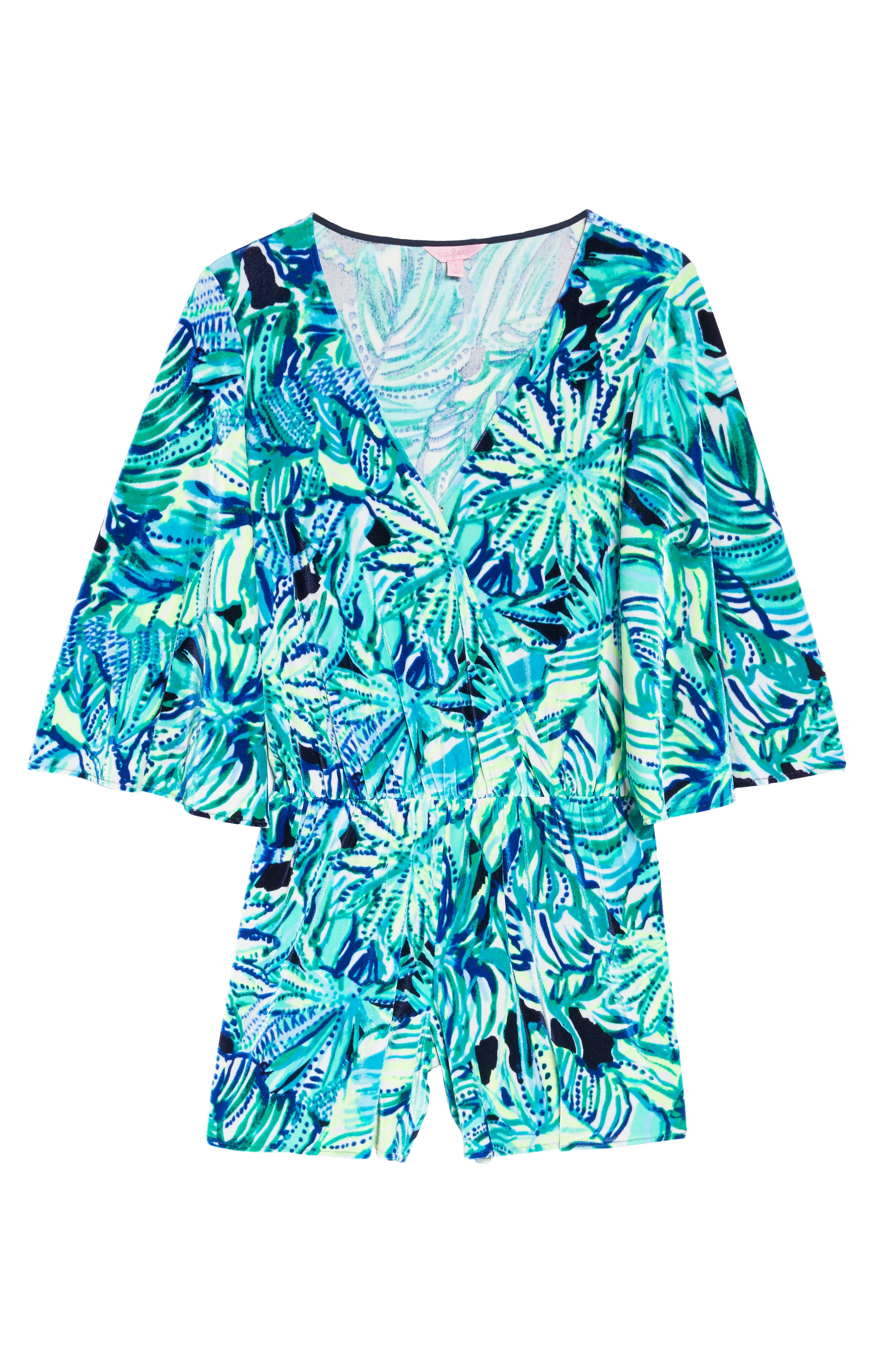 Lily Pulitzer<sup>®</sup> Viviana Romper,                             Alternate thumbnail 6, color,                             Bright Navy Dally