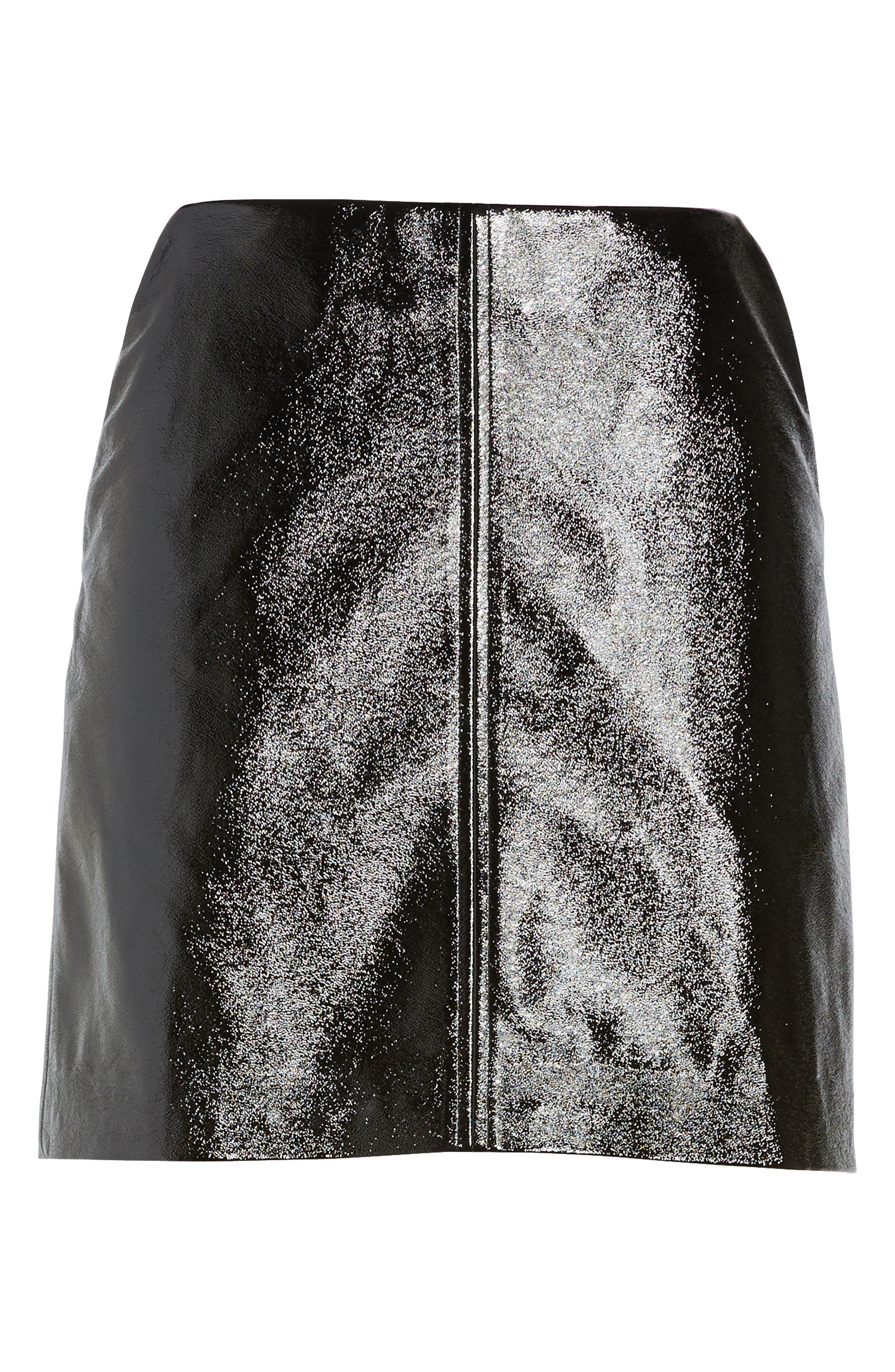 Alternate Image 6  - Leith Faux Leather Skirt