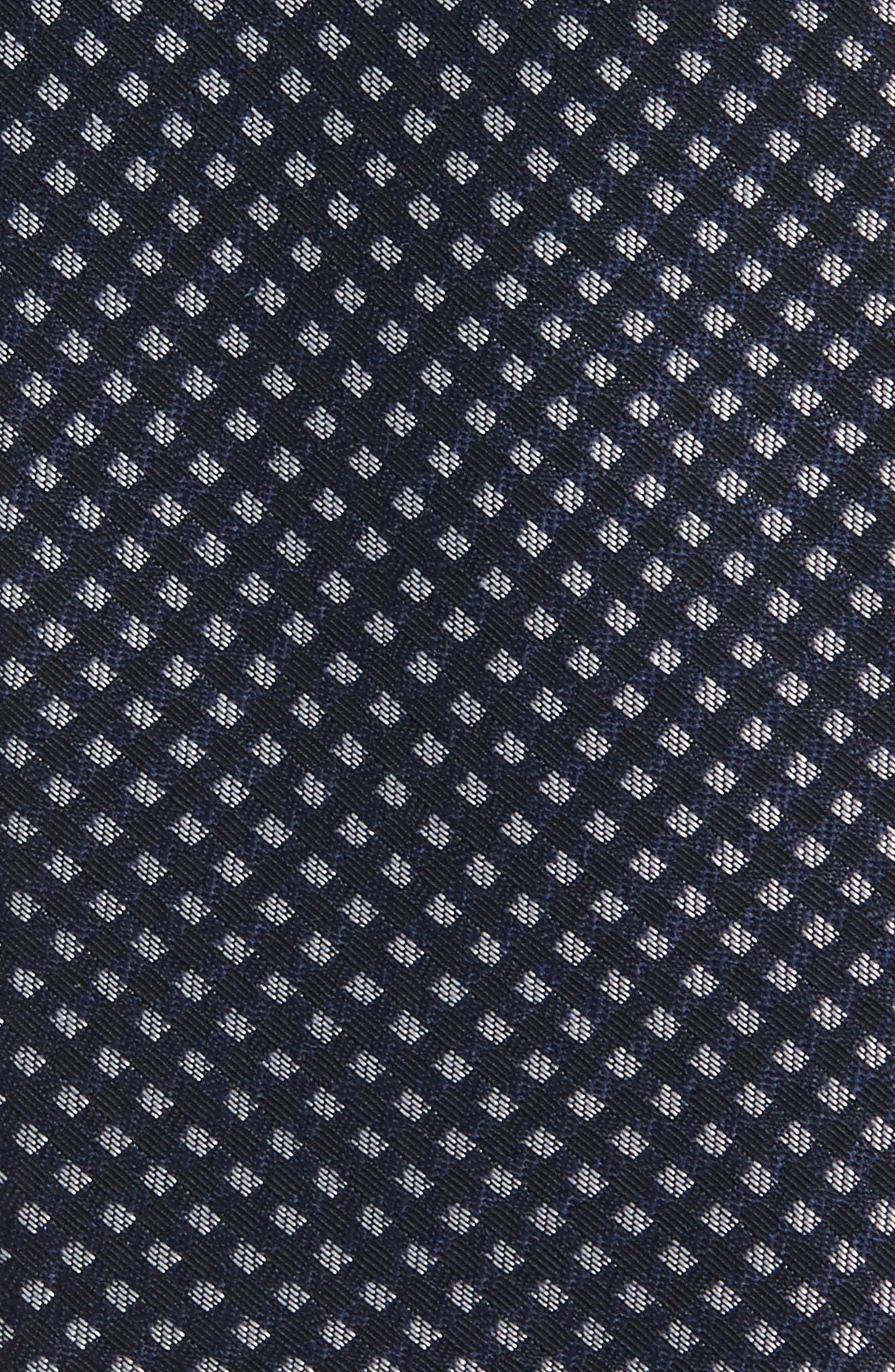 Midnight Silk Tie,                             Alternate thumbnail 2, color,                             Navy