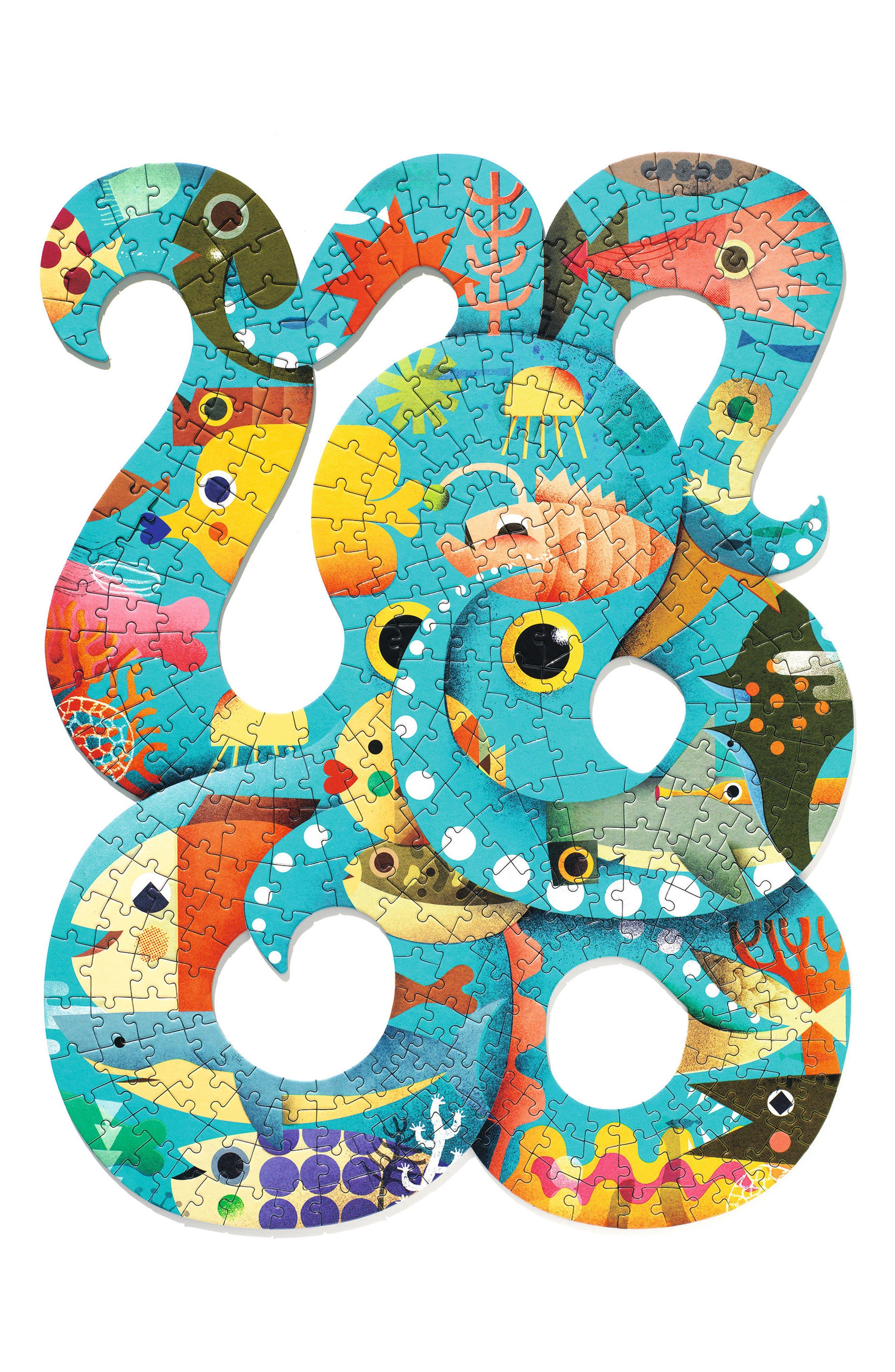 Djeco 350-Piece Puzzart Octopus Puzzle