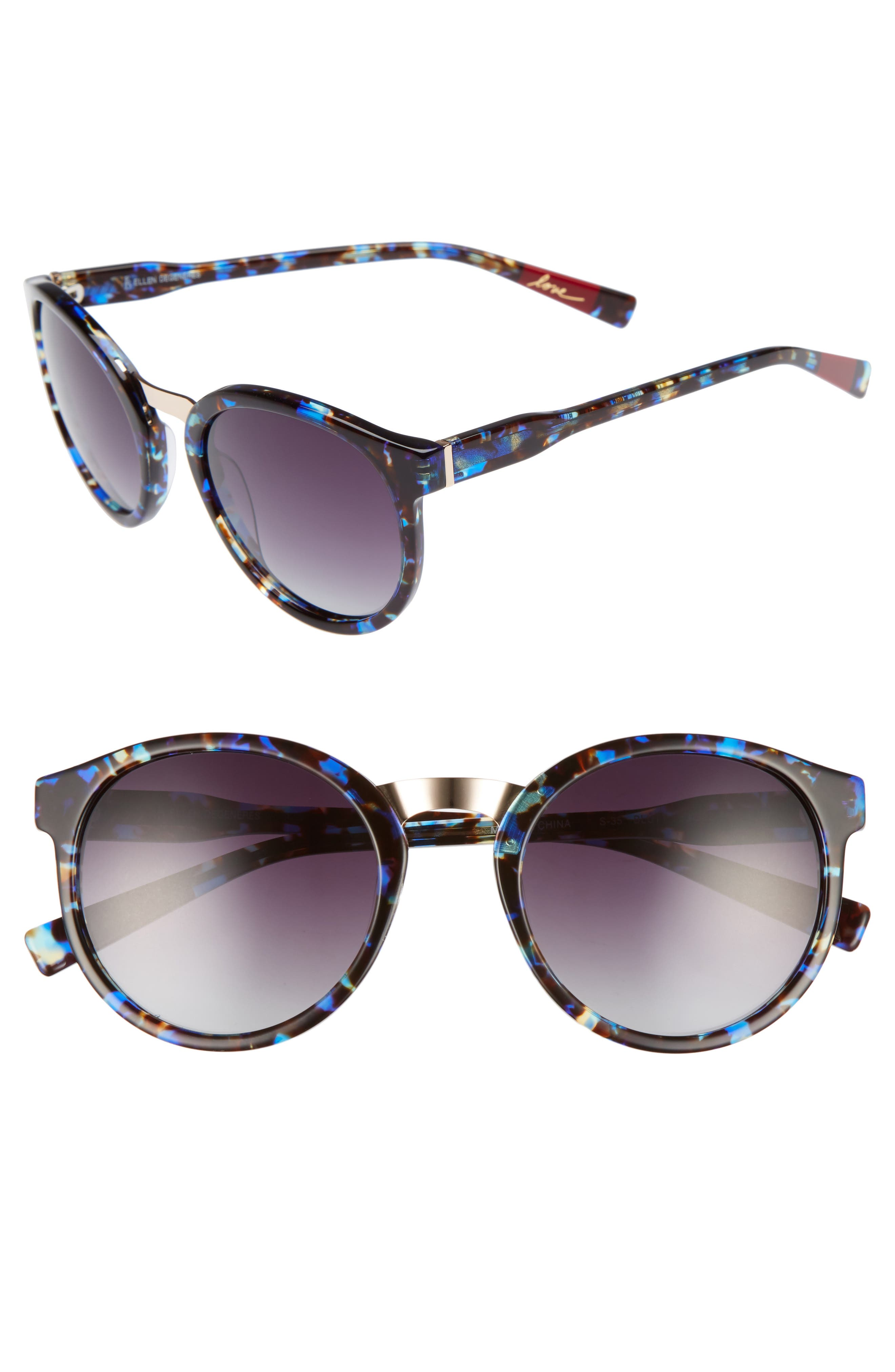 ED Ellen DeGeneres 53mm Round Sunglasses
