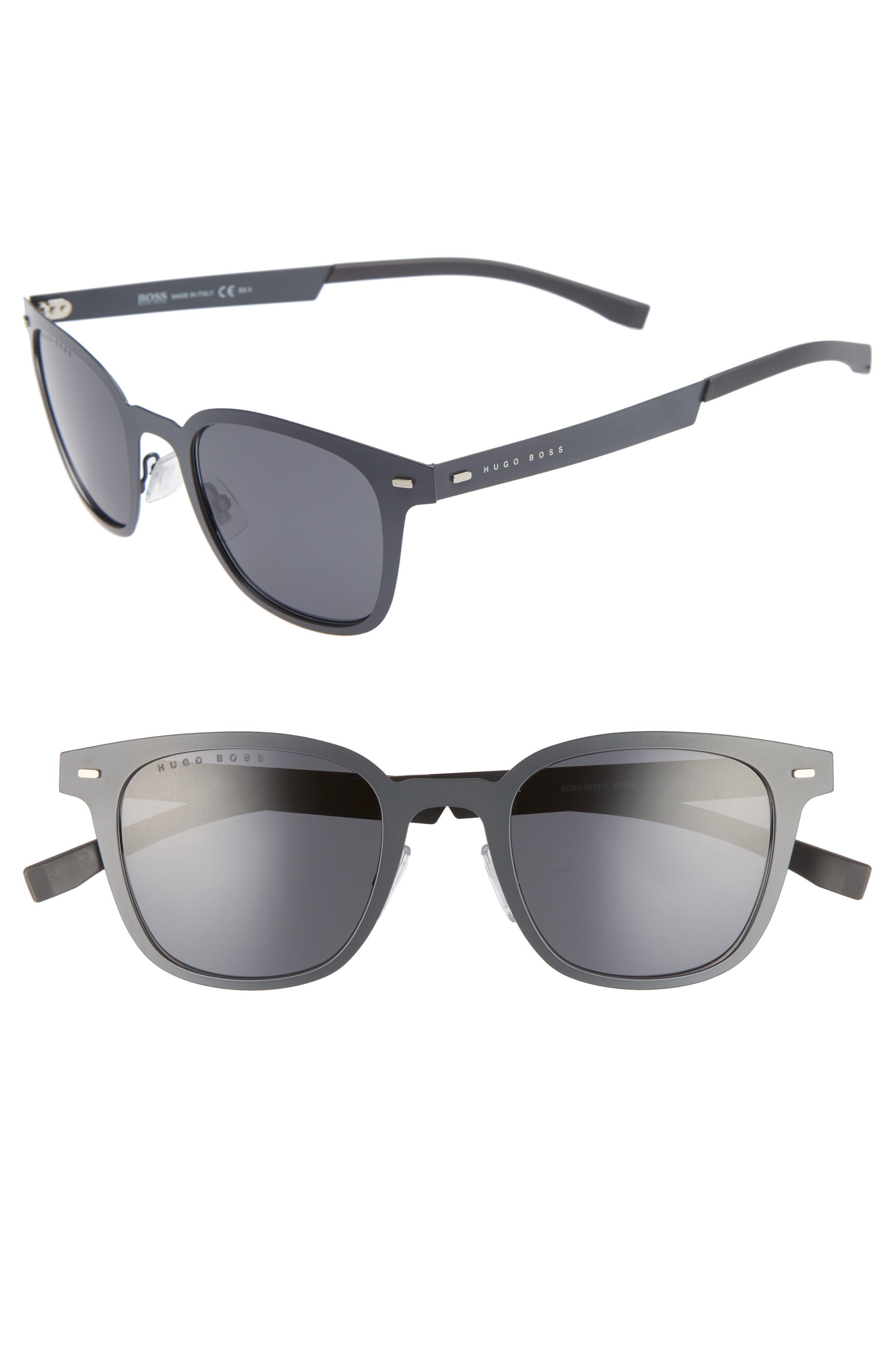 50mm Sunglasses,                         Main,                         color, Matte Gray/ Gray Blue