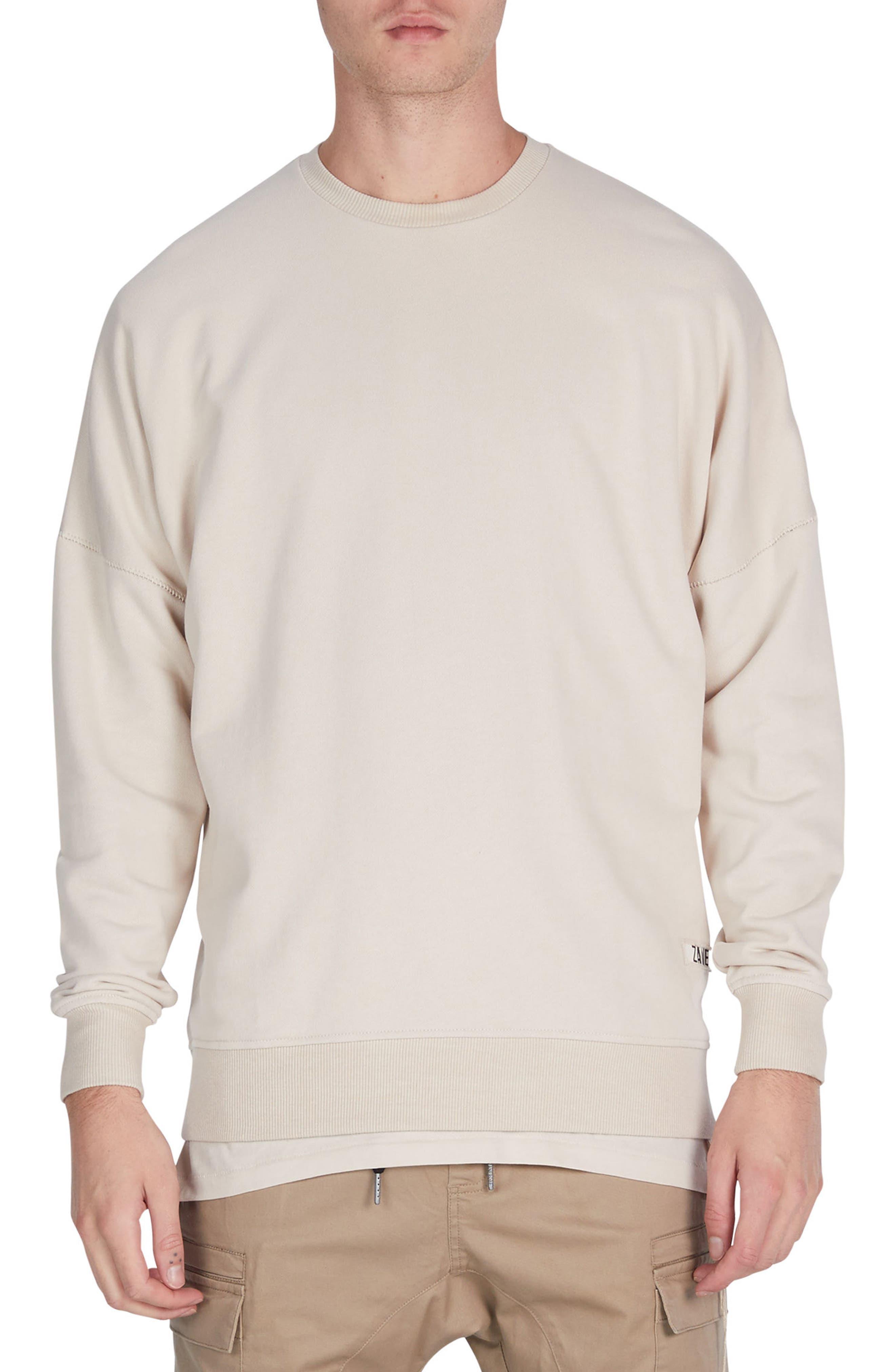 Rugger Crewneck Sweater,                         Main,                         color, Natural